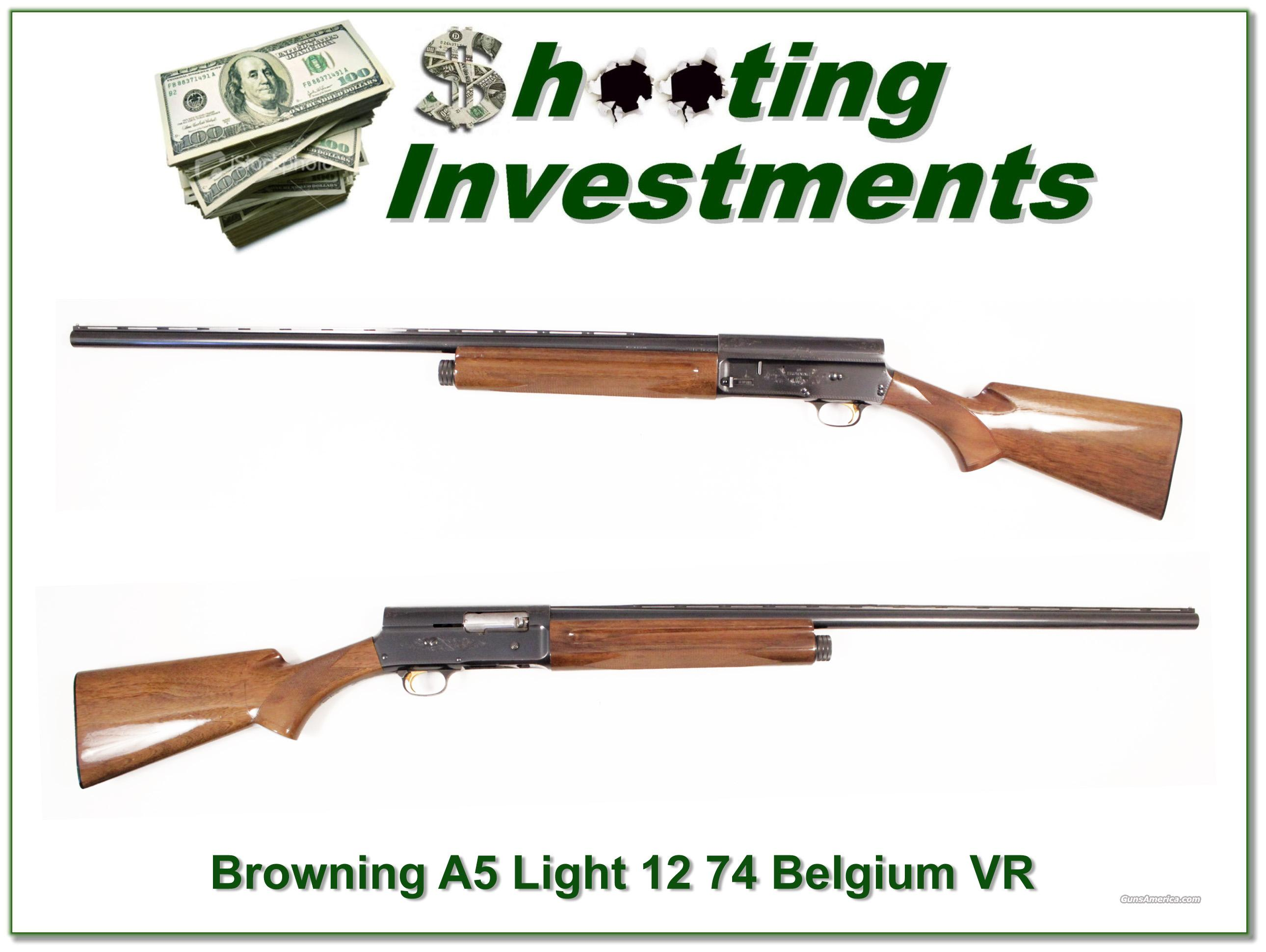 Browning A5 Light 12 74 Belgium Vent Rib  Guns > Shotguns > Browning Shotguns > Autoloaders > Hunting