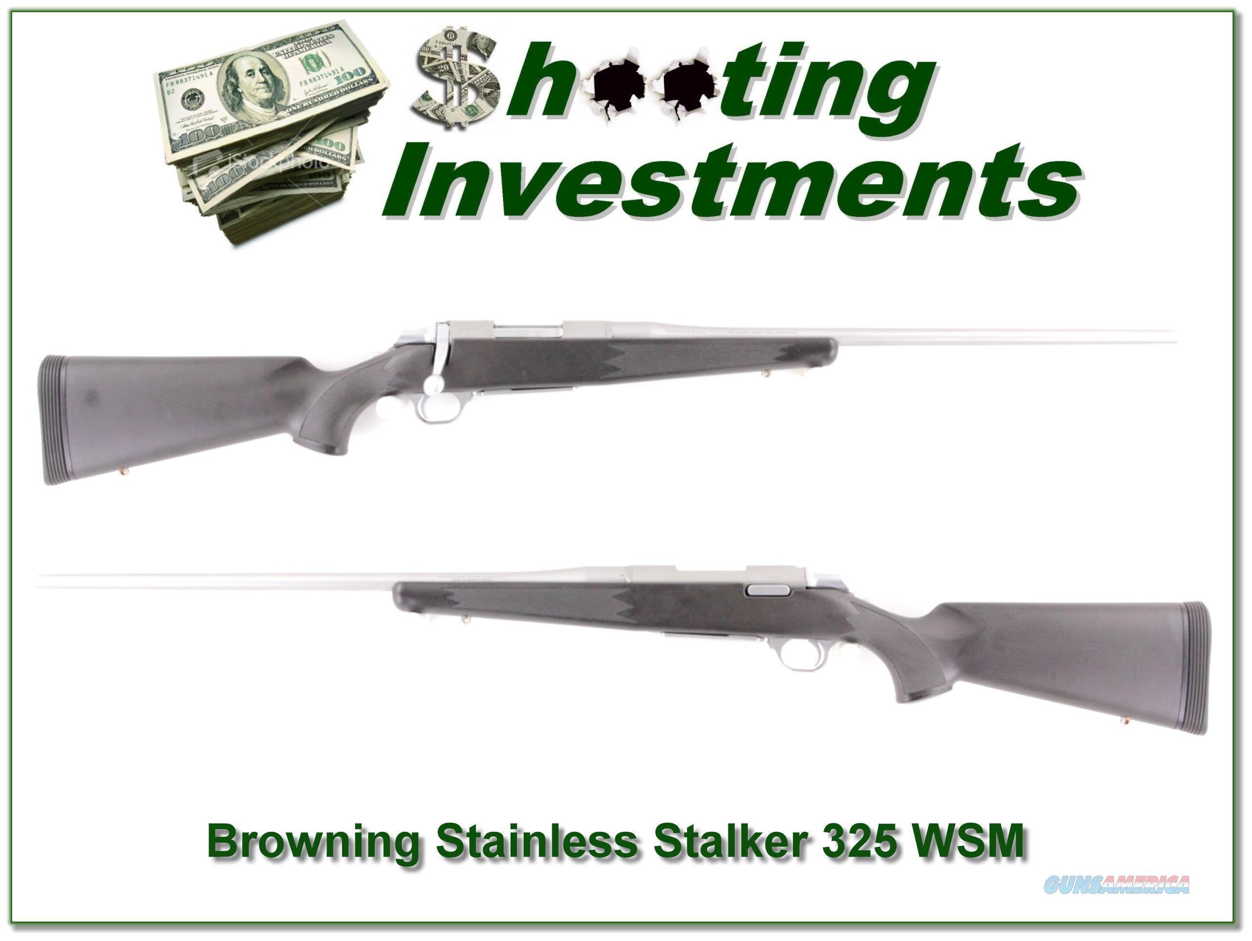 Browning A-bolt Stainless Stalker 325 WSM  Guns > Rifles > Browning Rifles > Bolt Action > Hunting > Stainless