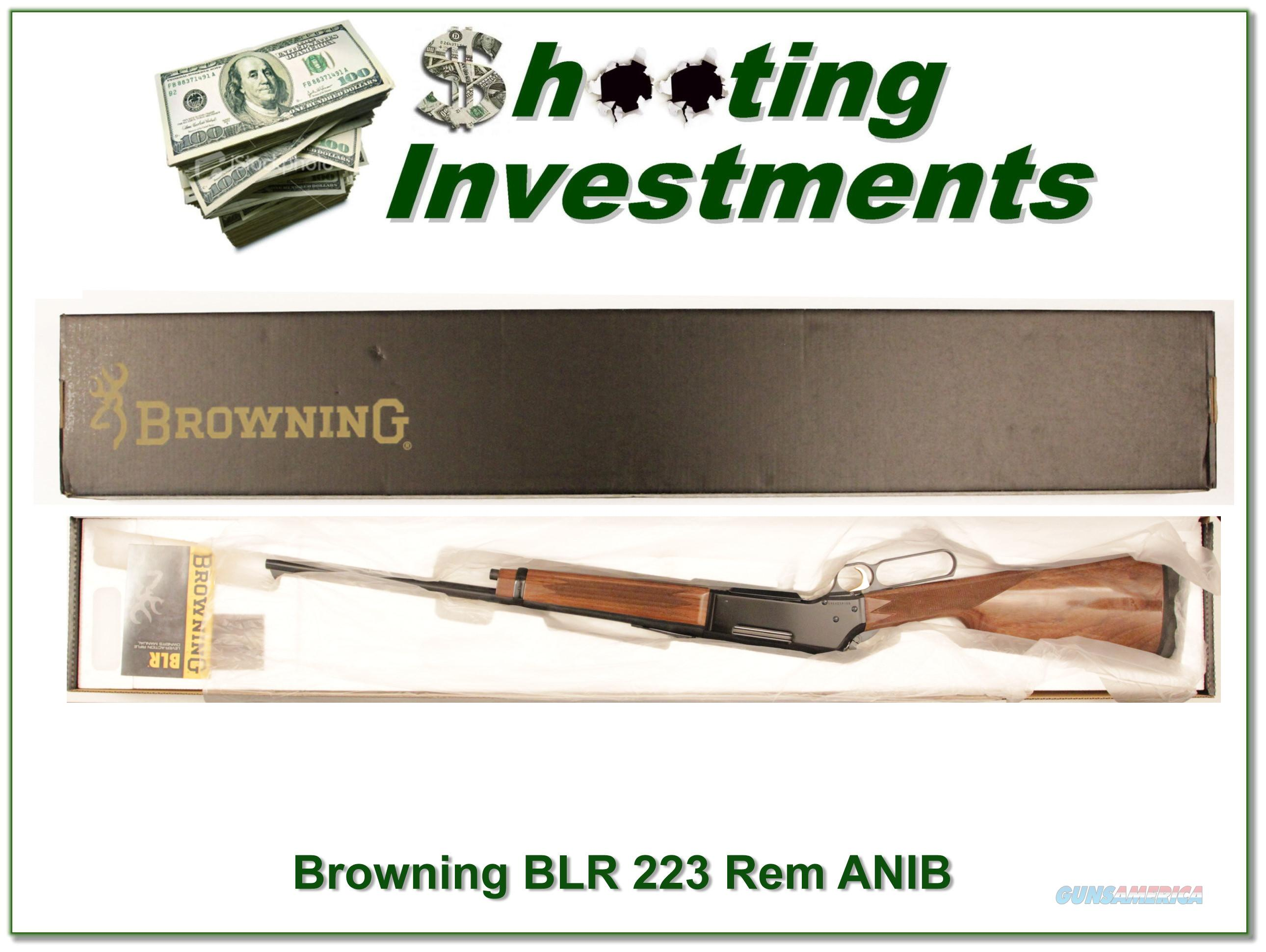 Browning BLR Model 81 Light Weight 223 Rem ANIB  Guns > Rifles > Browning Rifles > Lever Action