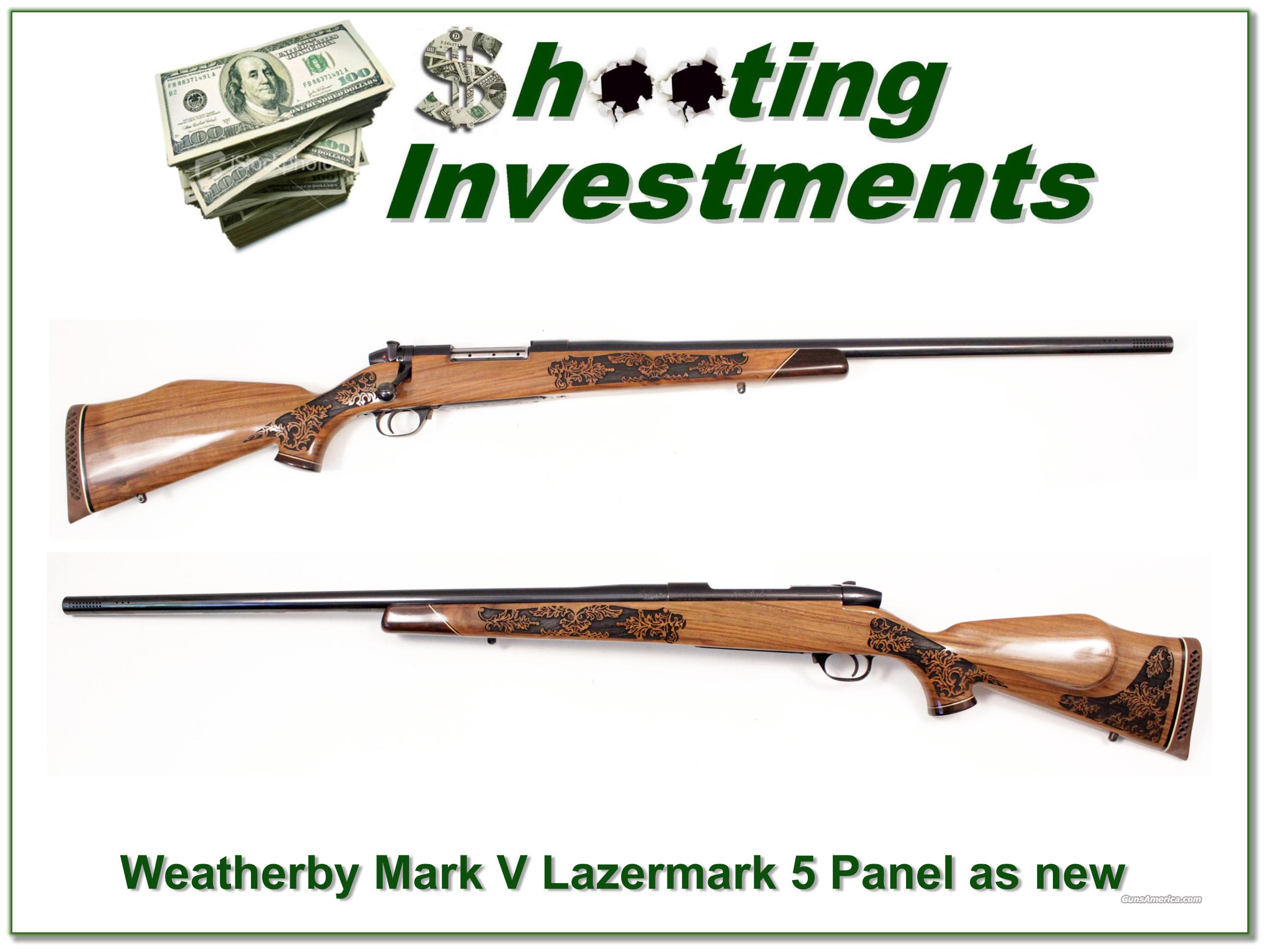 Weatherby Mark V 460 5 Panel Lazermark as new!  Guns > Rifles > Weatherby Rifles > Sporting