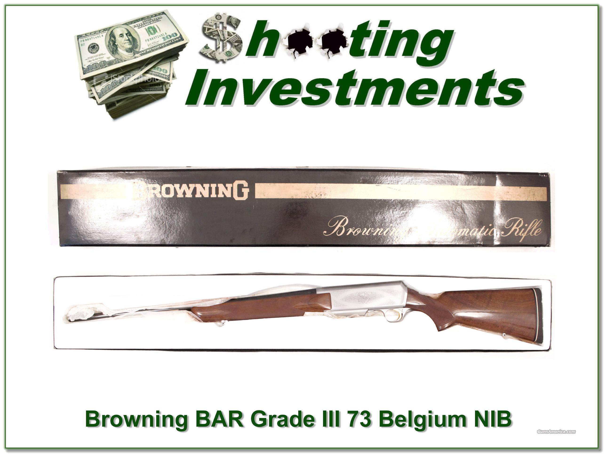 Browning BAR 300 73 Belgium rare Grade III NIB  Guns > Rifles > Browning Rifles > Semi Auto > Hunting