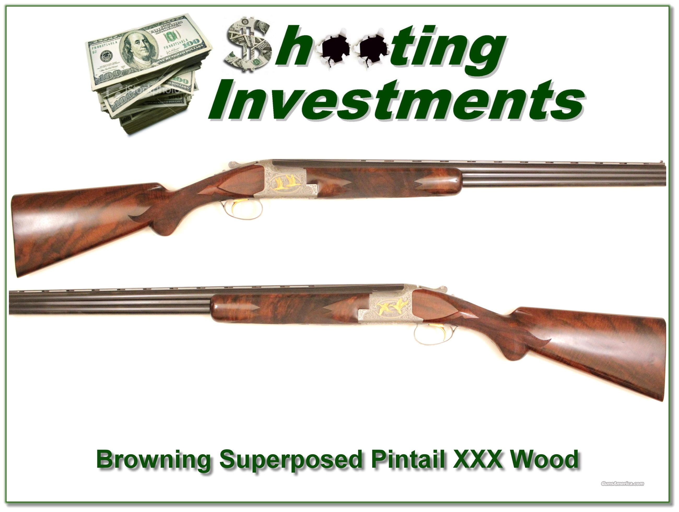 Browning Superposed Pintail Waterfowl 12 gauge  Guns > Shotguns > Browning Shotguns > Over Unders > Belgian Manufacture