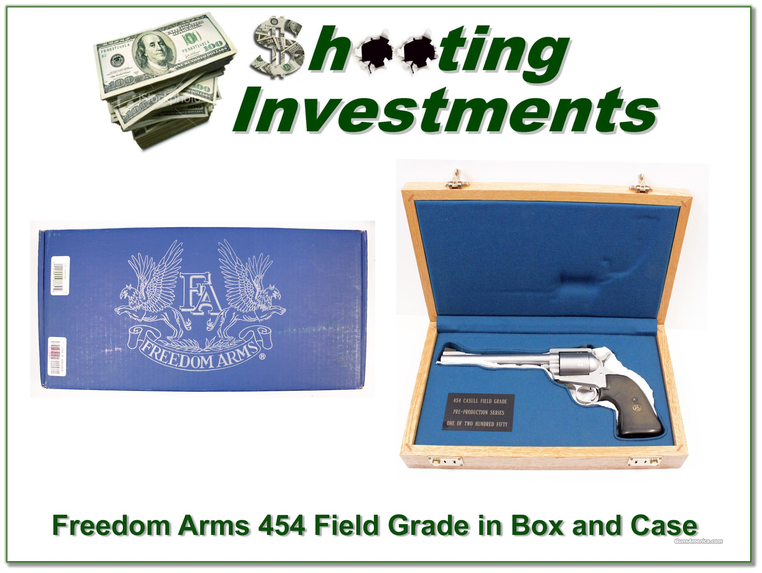 Freedom Arms Model 83 454 Casull ANIB box and case!  Guns > Pistols > Freedom Arms Pistols