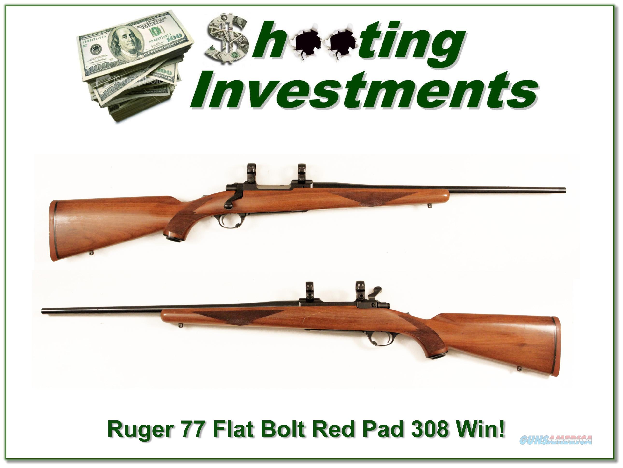 Ruger Model 77 early Flat Bolt 308 Winchester!  Guns > Rifles > Ruger Rifles > Model 77