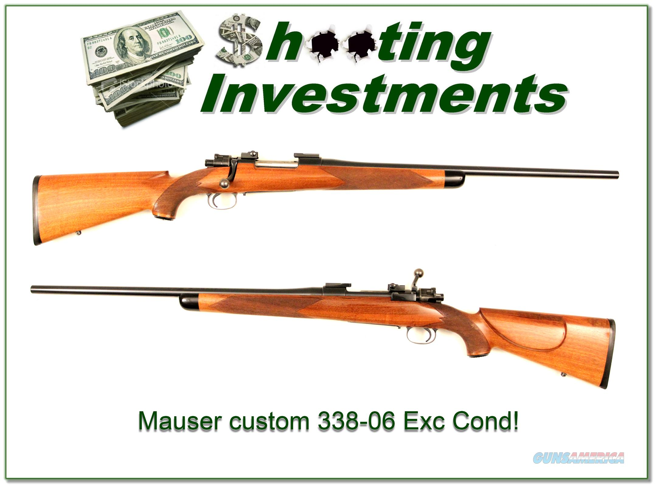 Custom Mauser in 338-06 Exc Cond!  Guns > Rifles > Mauser Rifles > German