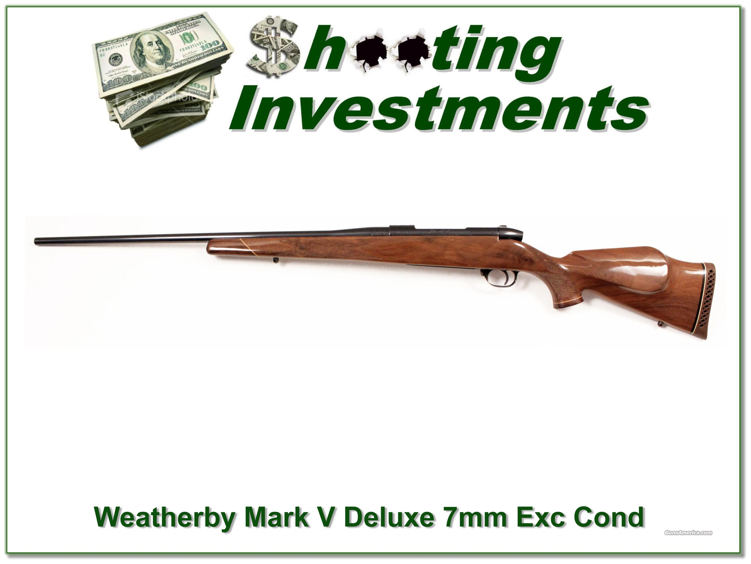 Weatherby Mark V Deluxe 7mm Wthy Exc Cond  Guns > Rifles > Weatherby Rifles > Sporting
