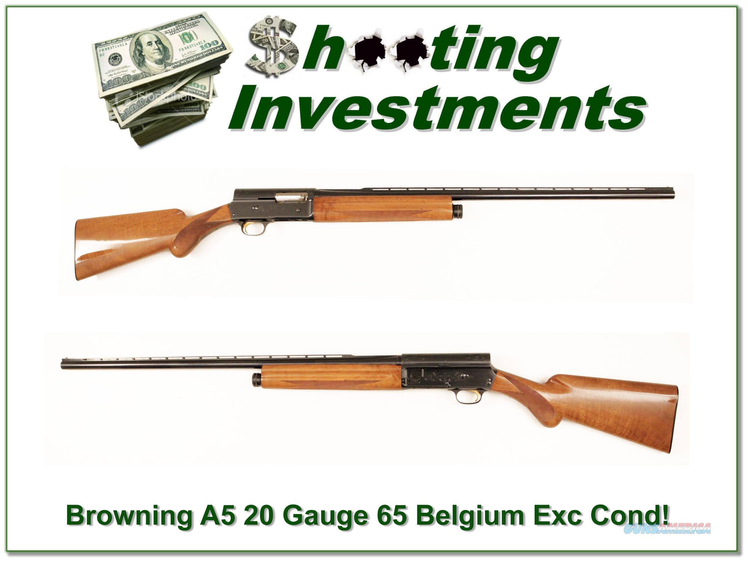 Browning A5 20 Gauge 65 Belgium Honey Blond VR!  Guns > Shotguns > Browning Shotguns > Autoloaders > Hunting