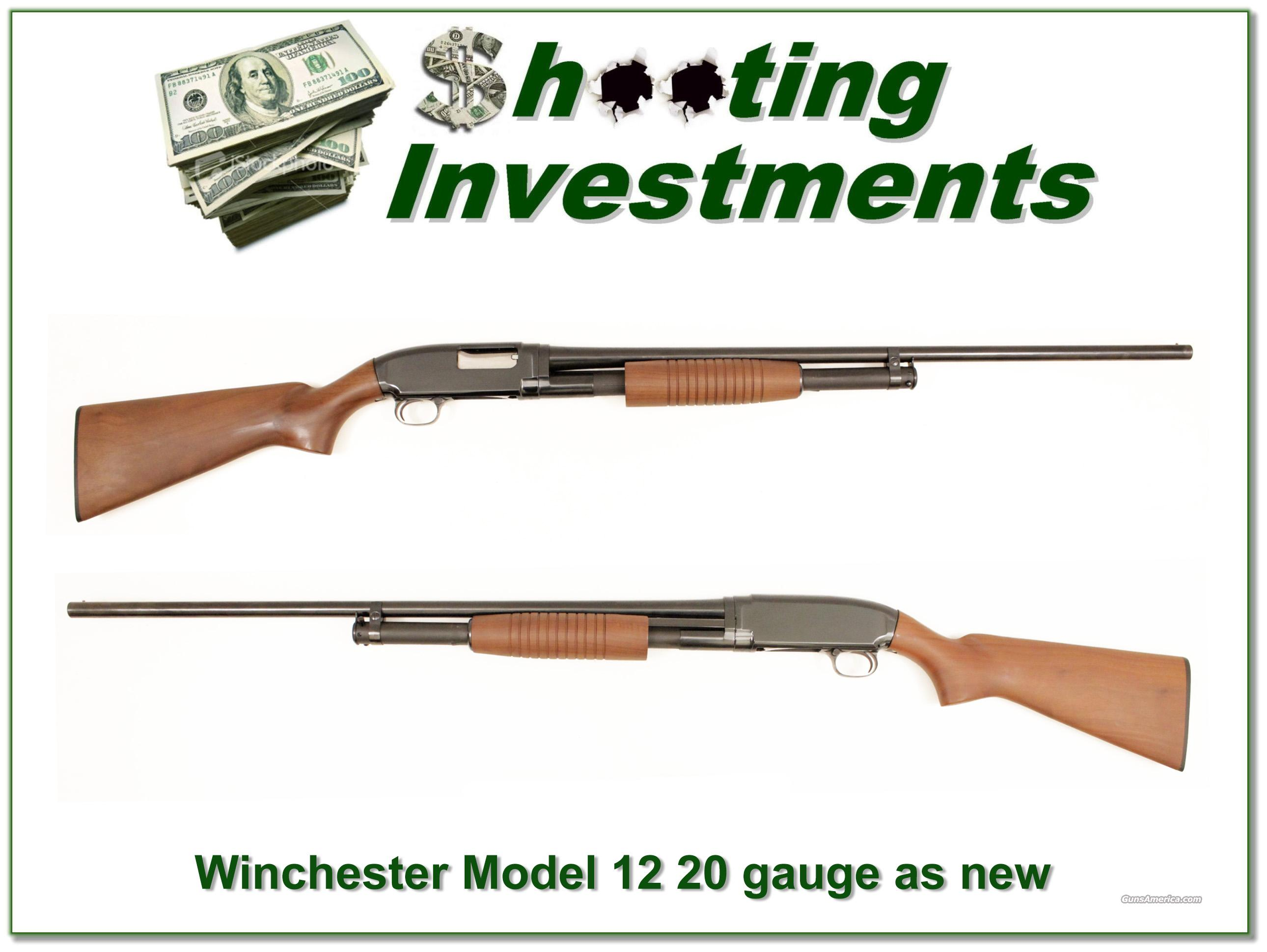 Winchester Model 12 20 gauge 1940 restored to as new  Guns > Shotguns > Winchester Shotguns - Modern > Pump Action > Hunting