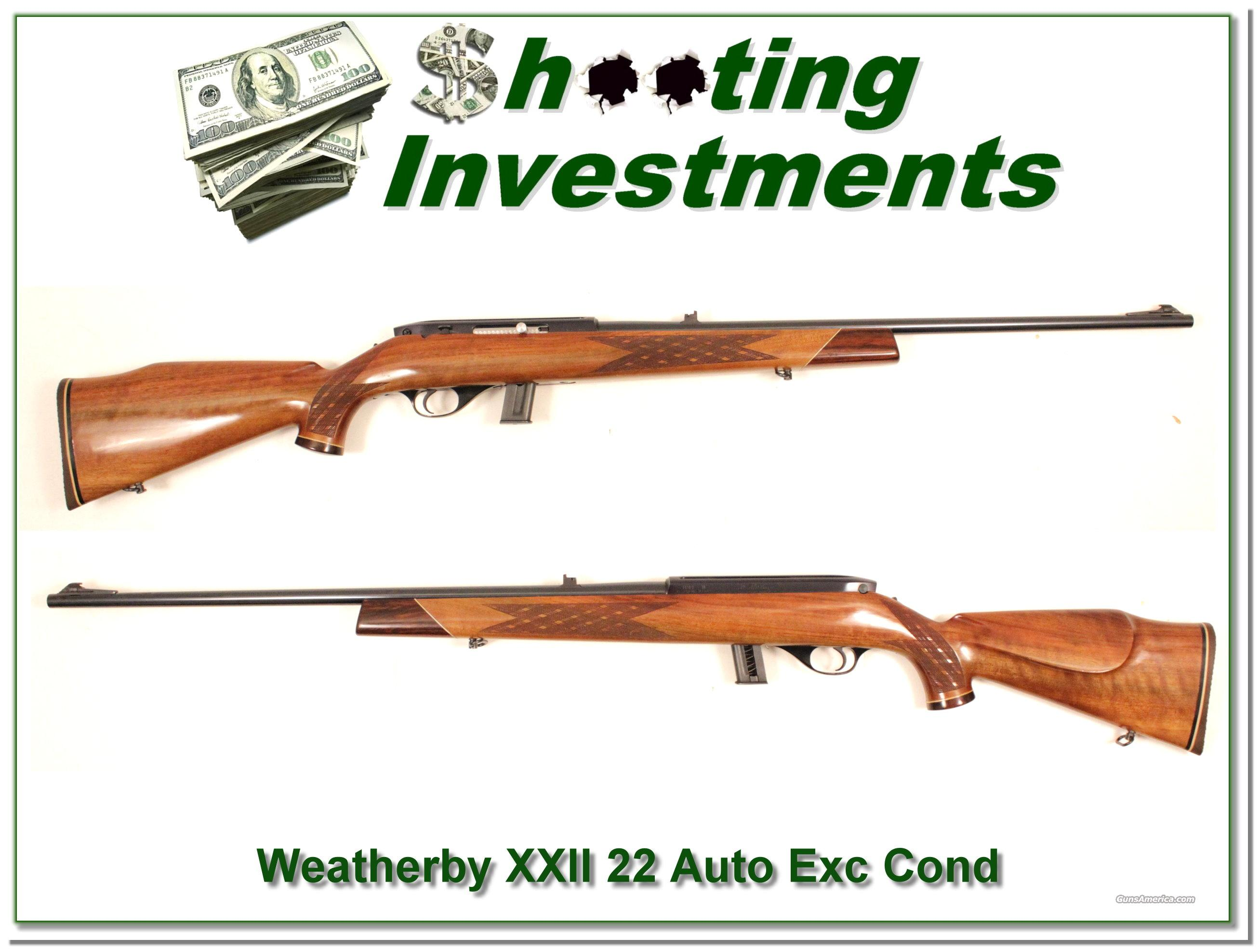 Weatherby Mark XXII Deluxe Exc Cond!  Guns > Rifles > Weatherby Rifles > Sporting