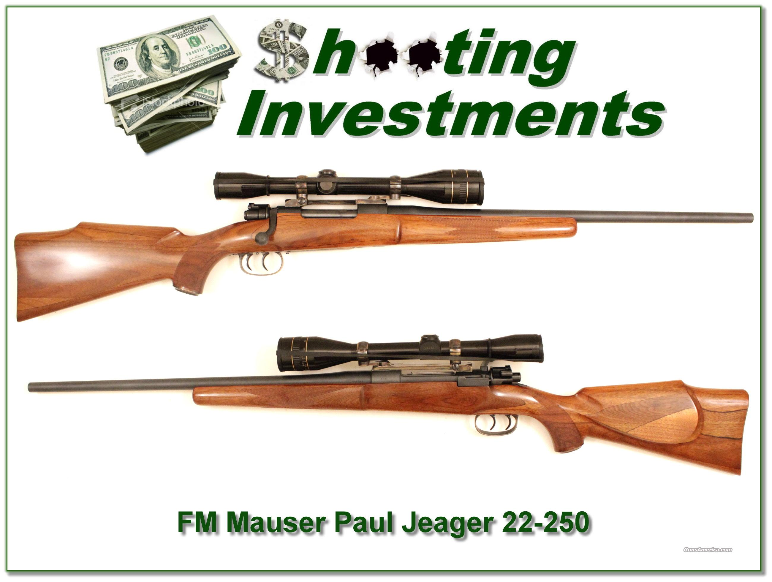 Paul Jaeger Custom 22-250 with Leupold 12X  Guns > Rifles > FNH - Fabrique Nationale (FN) Rifles > Bolt action > Hunting