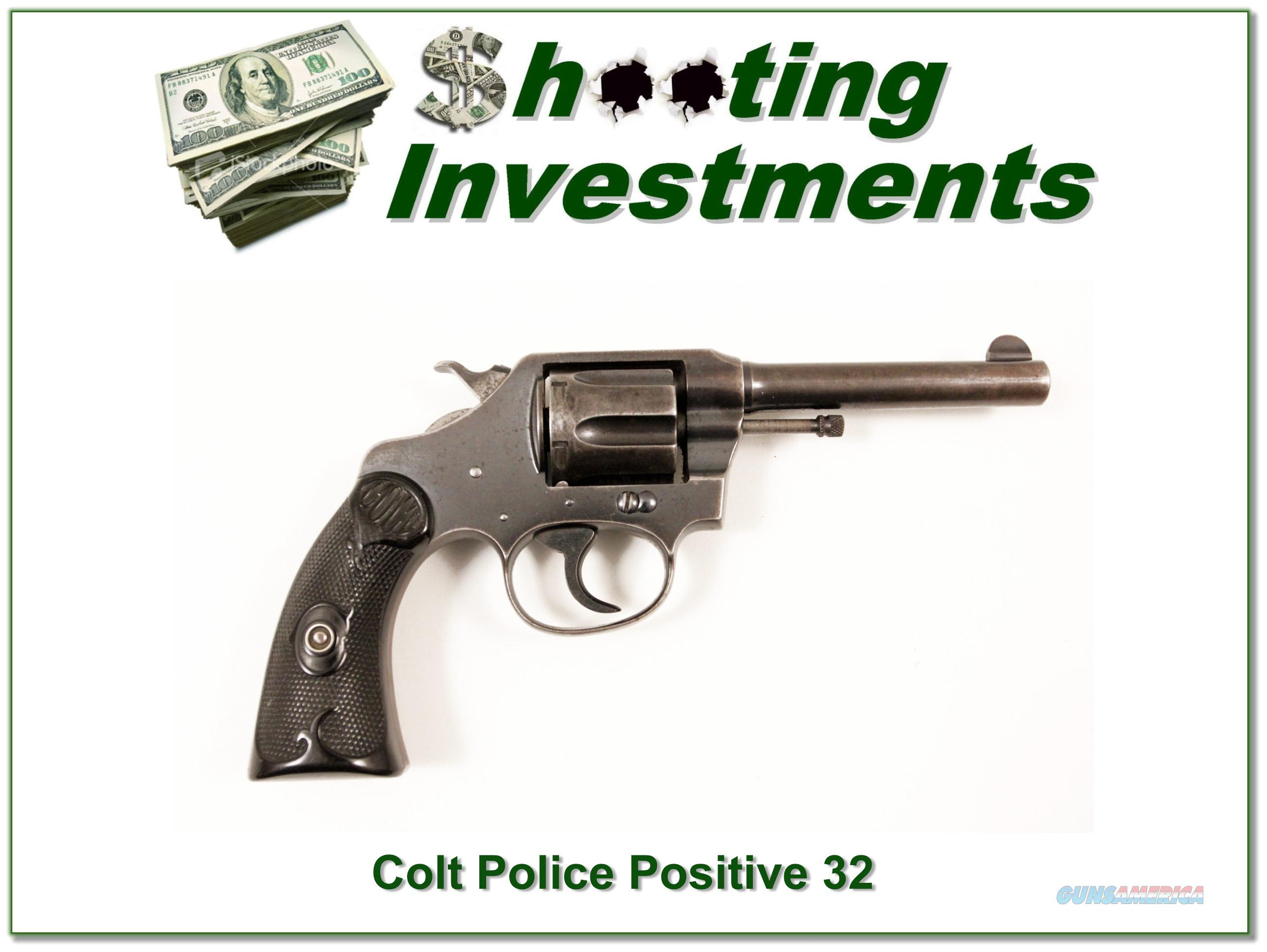 Colt Police Positive 32 Police CTG 1921  Guns > Pistols > Colt Double Action Revolvers- Modern