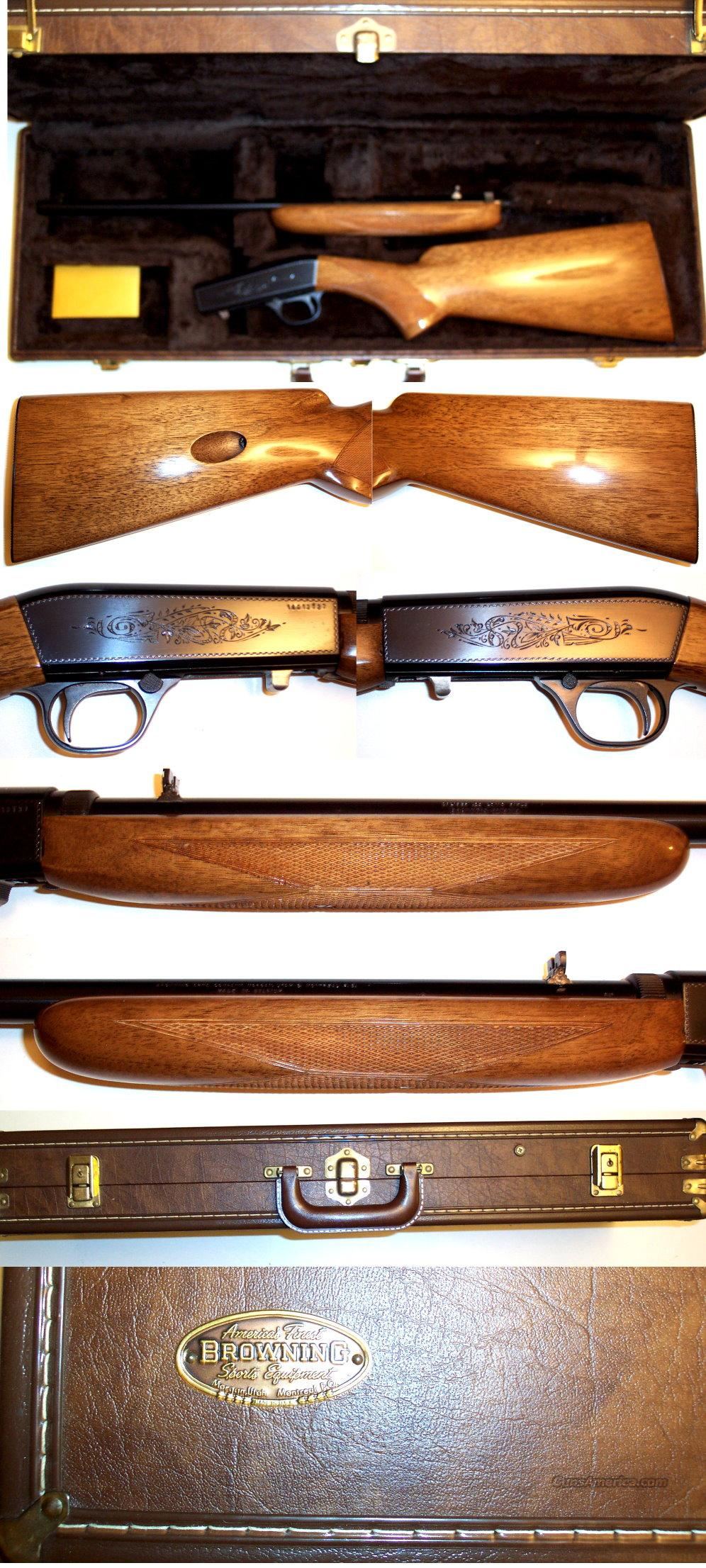 '73 Belgium Browning 22 auto near new in case  Guns > Rifles > Browning Rifles > Semi Auto > Hunting