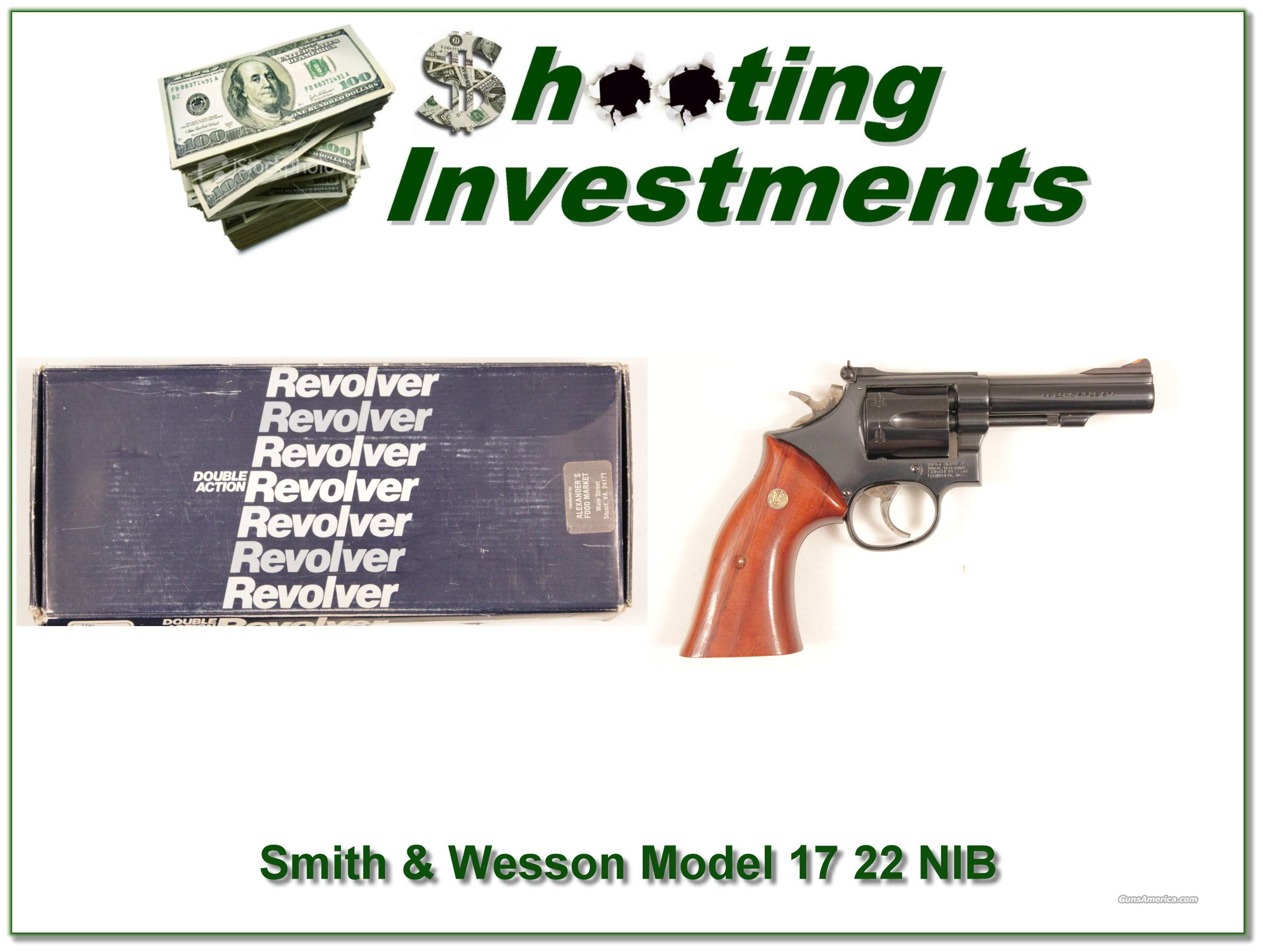 Smith & Wesson Model 17-5 .22 LRNIB  Guns > Pistols > Smith & Wesson Revolvers > Full Frame Revolver