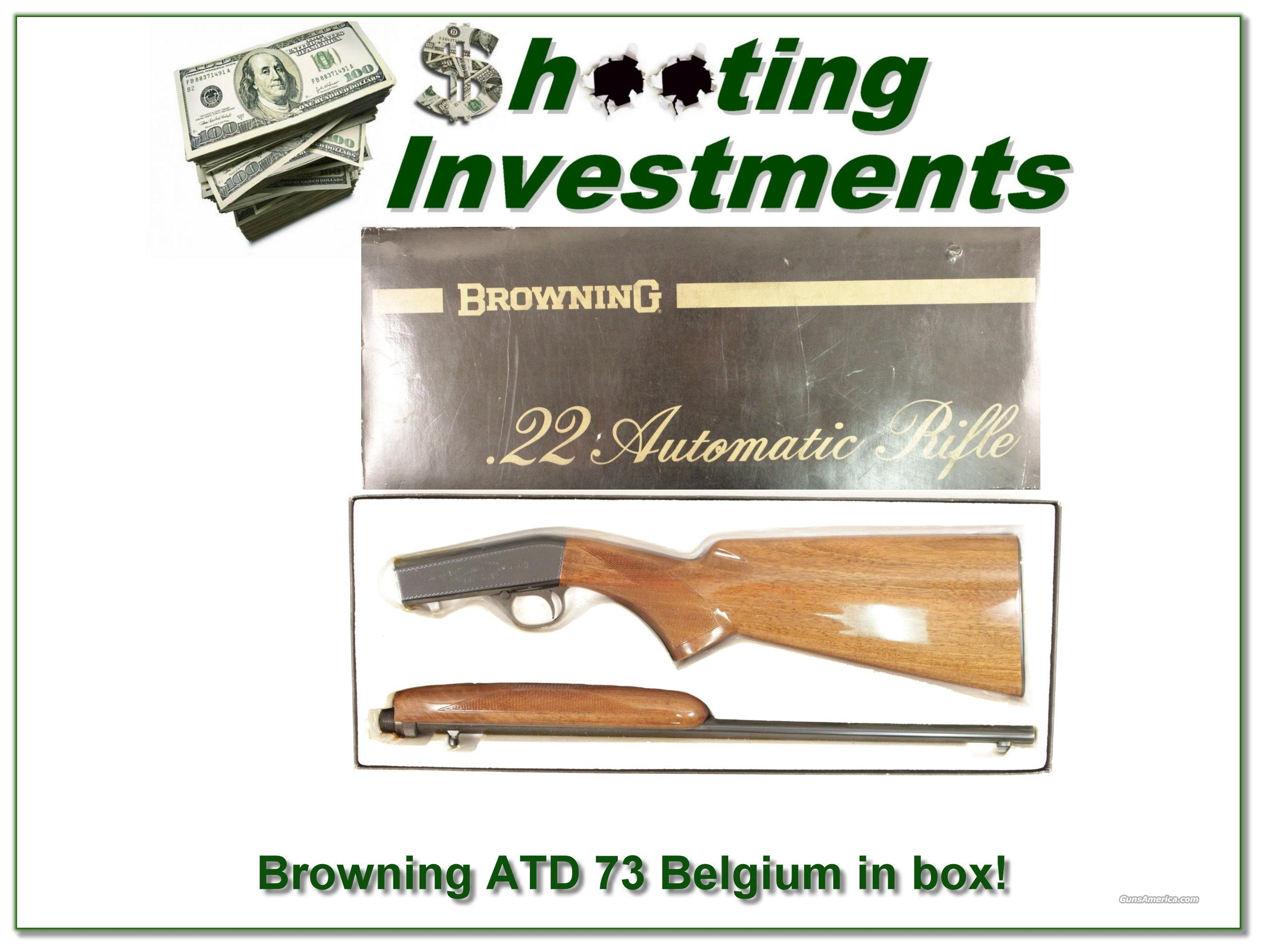 Browning ATD 22 auto 73 Belgium in box!  Guns > Rifles > Browning Rifles > Semi Auto > Hunting