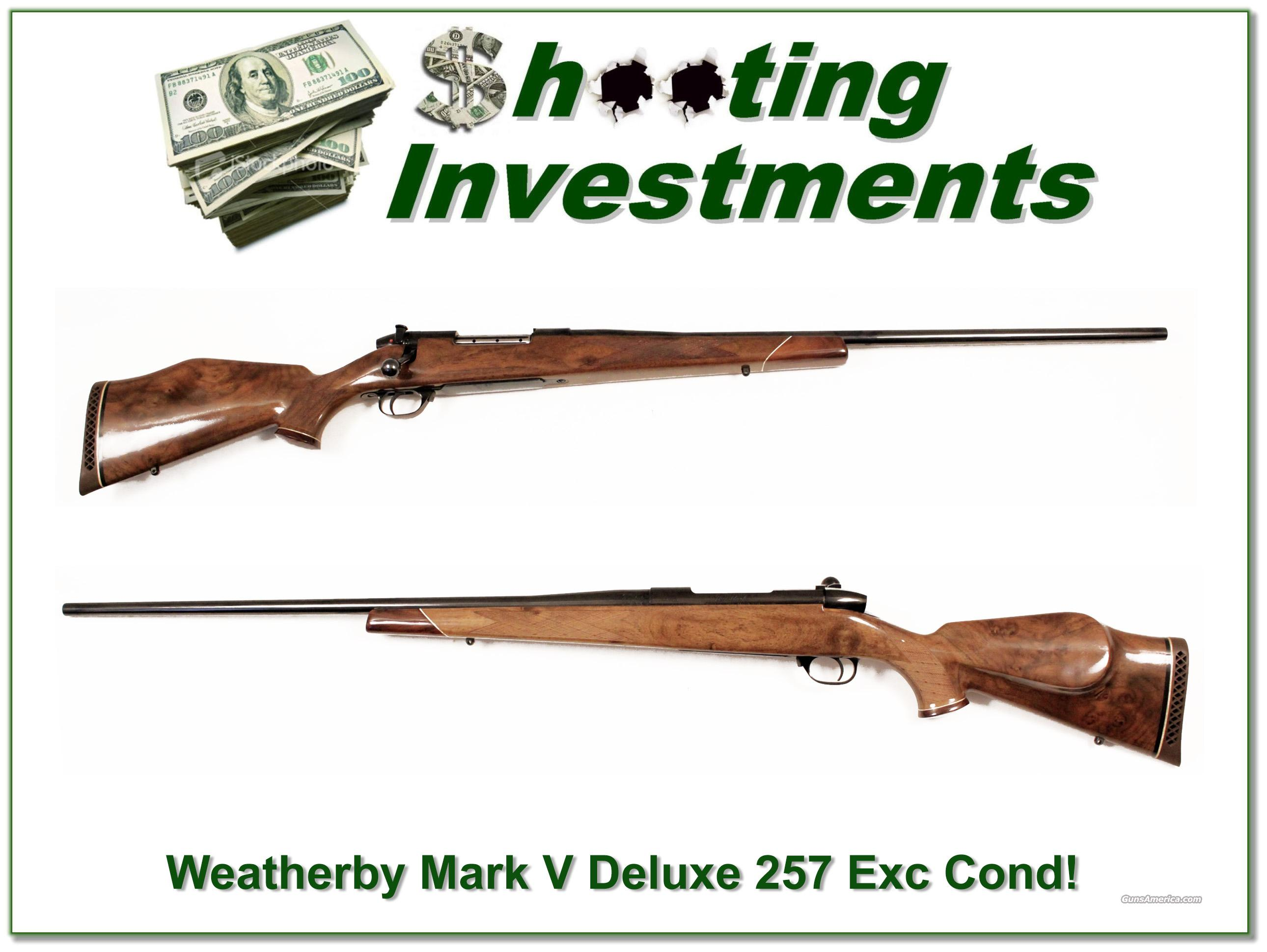 Weatherby Mark V Deluxe 257 Magnum 26in near new!  Guns > Rifles > Weatherby Rifles > Sporting