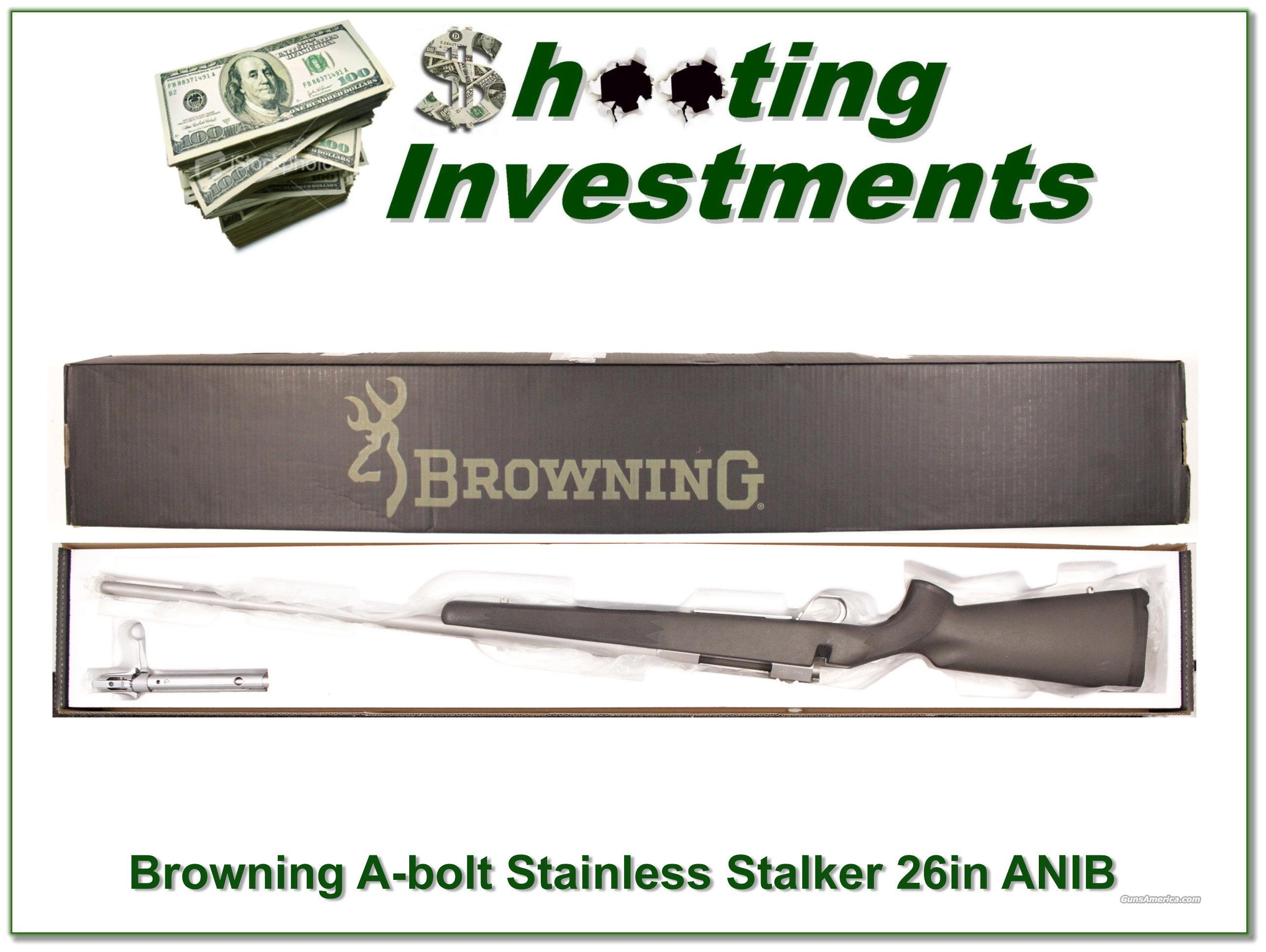 Browning A-bolt Stainless Stalker 7mm 26in ANIB  Guns > Rifles > Browning Rifles > Bolt Action > Hunting > Stainless