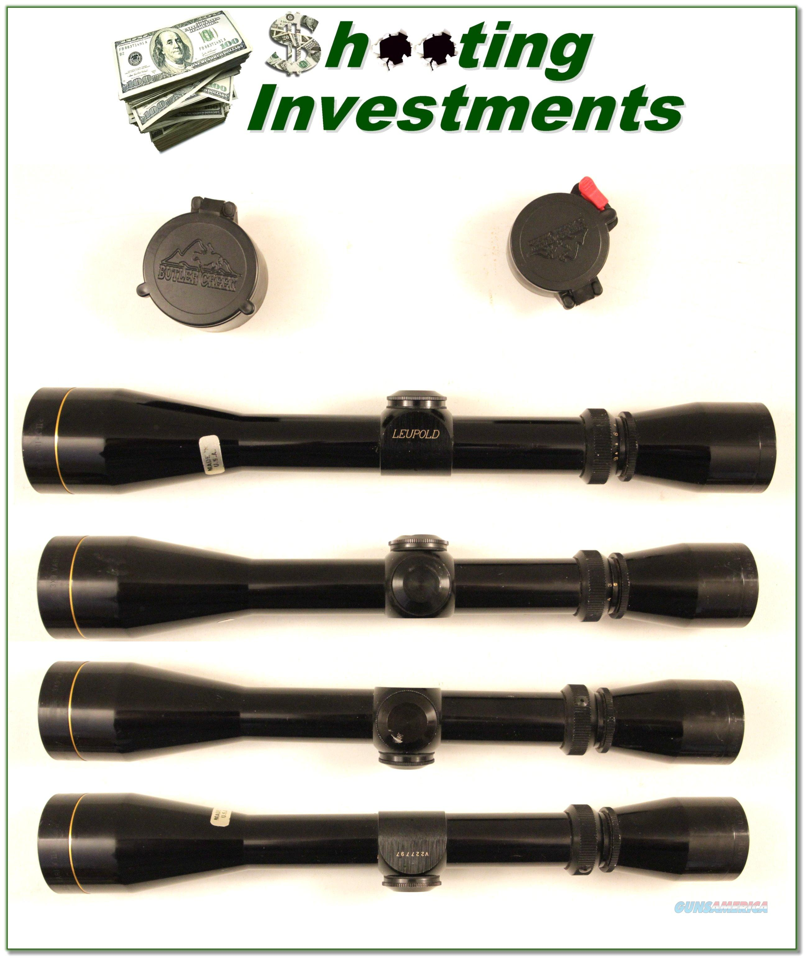 Leupold Vari-X II 3-9 X40 scope Gloss with covers  Non-Guns > Scopes/Mounts/Rings & Optics > Rifle Scopes > Variable Focal Length