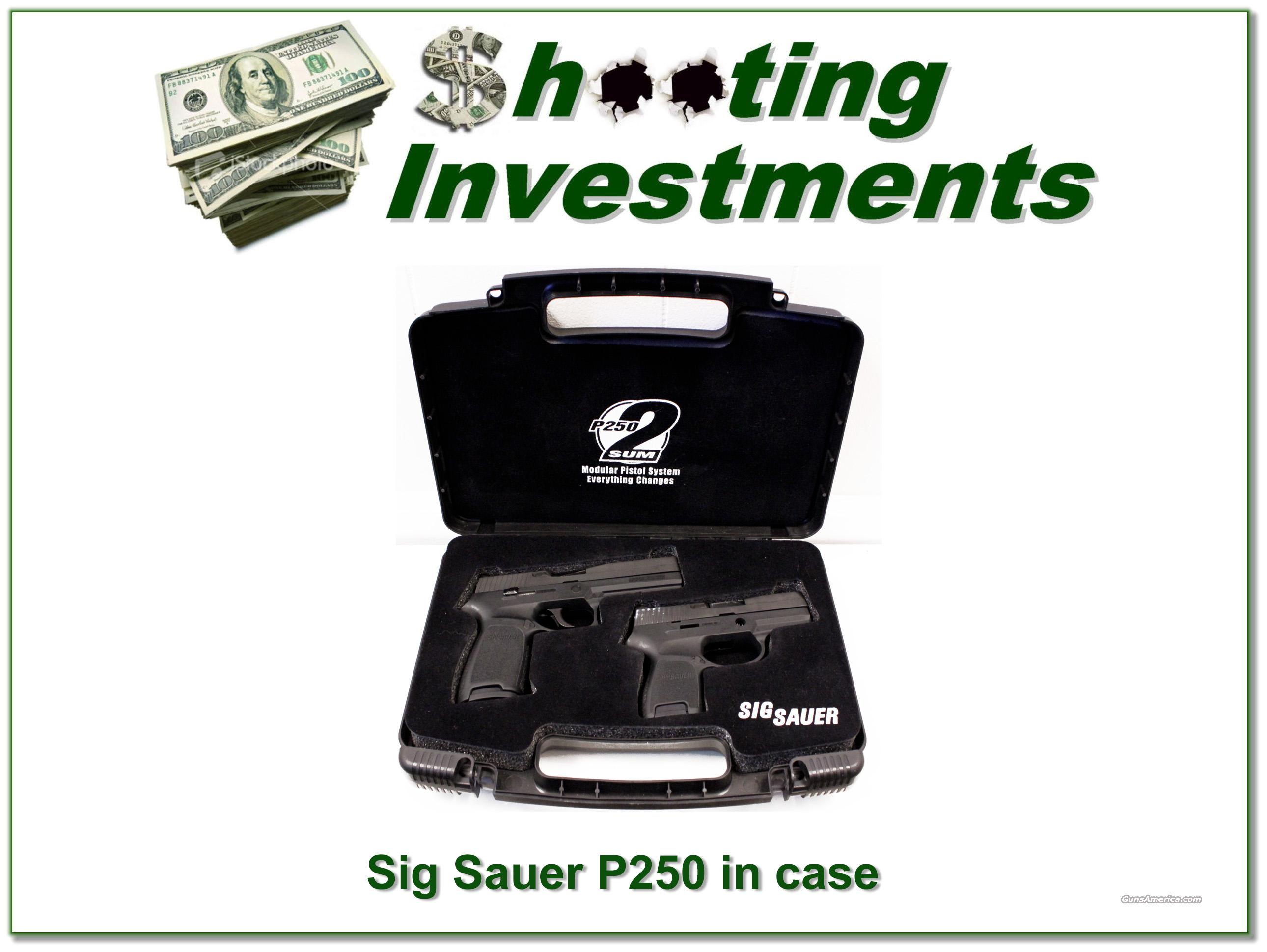 Sig Sauer P250 2Sum 9mm Full and Compact ANIC  Guns > Pistols > Sig - Sauer/Sigarms Pistols > P250