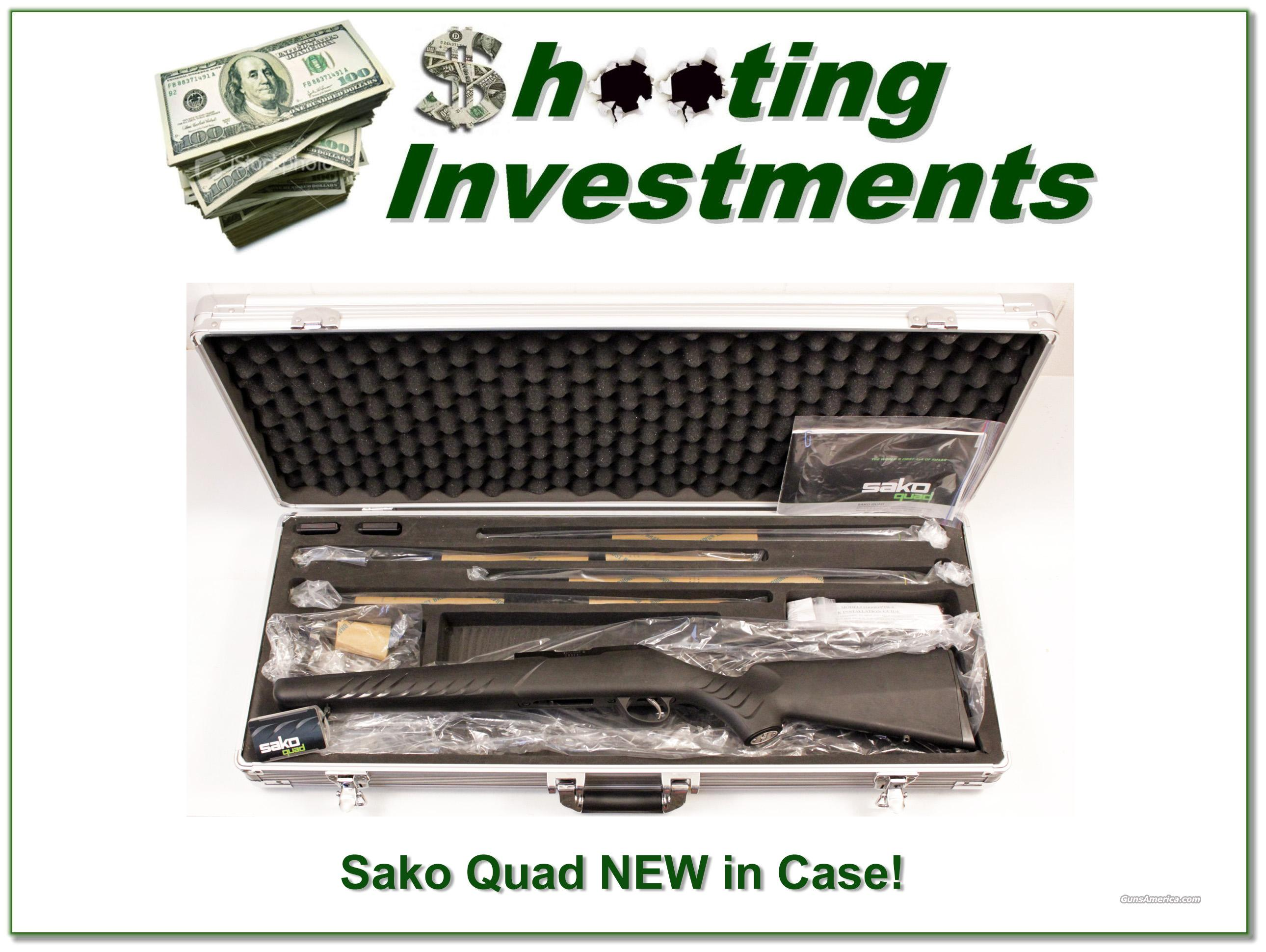 Sako Quad 4 barrel set, 22LR, 22 Mag, 17 Mach2, 17 HMR, NEW!  Guns > Rifles > Sako Rifles > Other Bolt Action