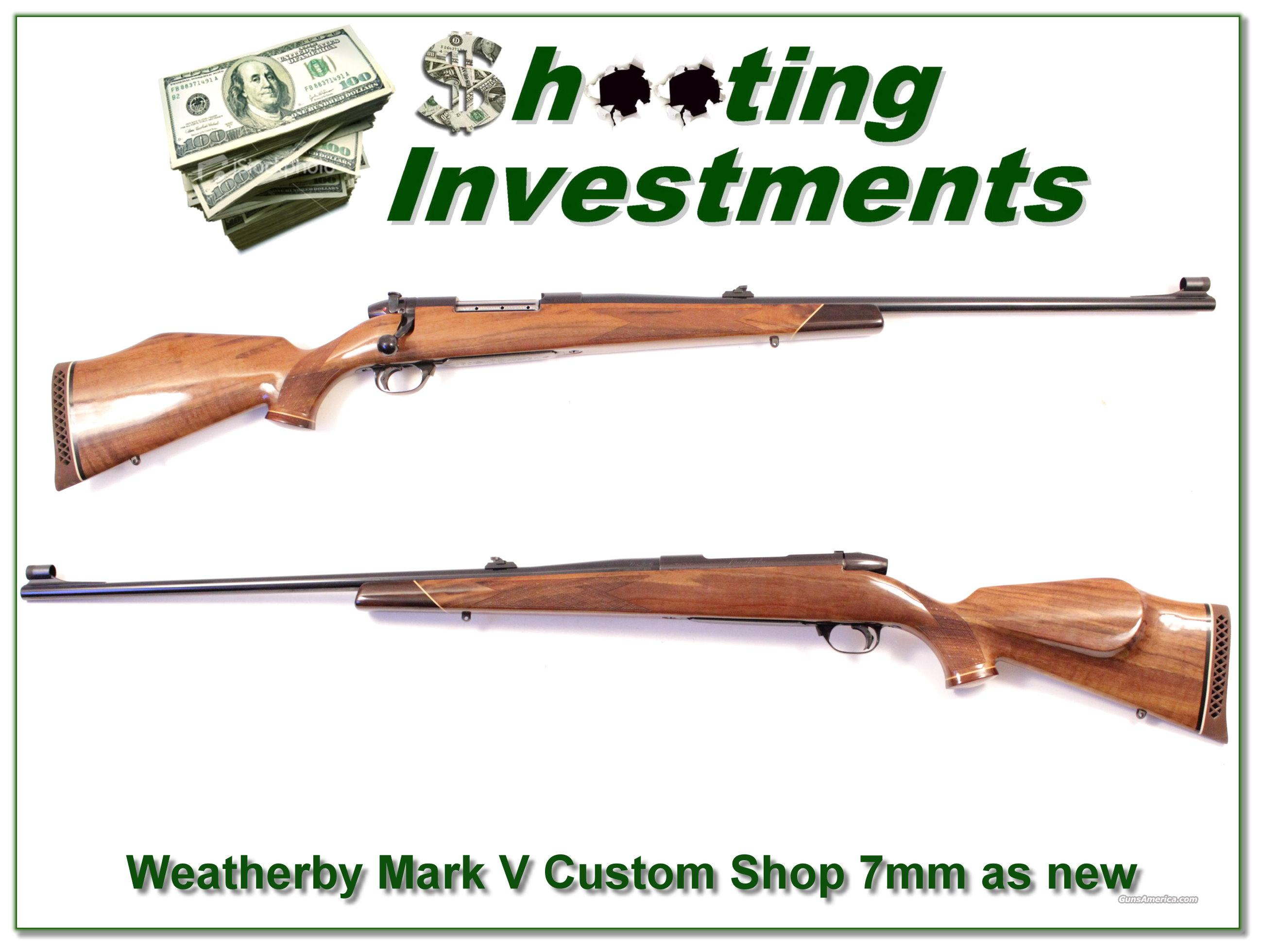 Weatherby Mark V Deluxe Custom Shop 26in 7mm Wthy Mag!  Guns > Rifles > Weatherby Rifles > Sporting