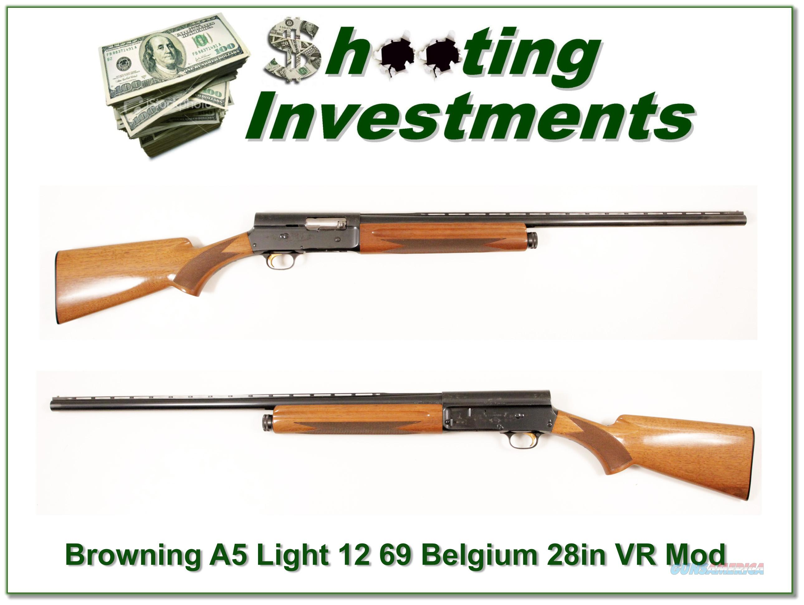 Browning A5 Light 12 69 Belgium Blond VR!  Guns > Shotguns > Browning Shotguns > Autoloaders > Hunting