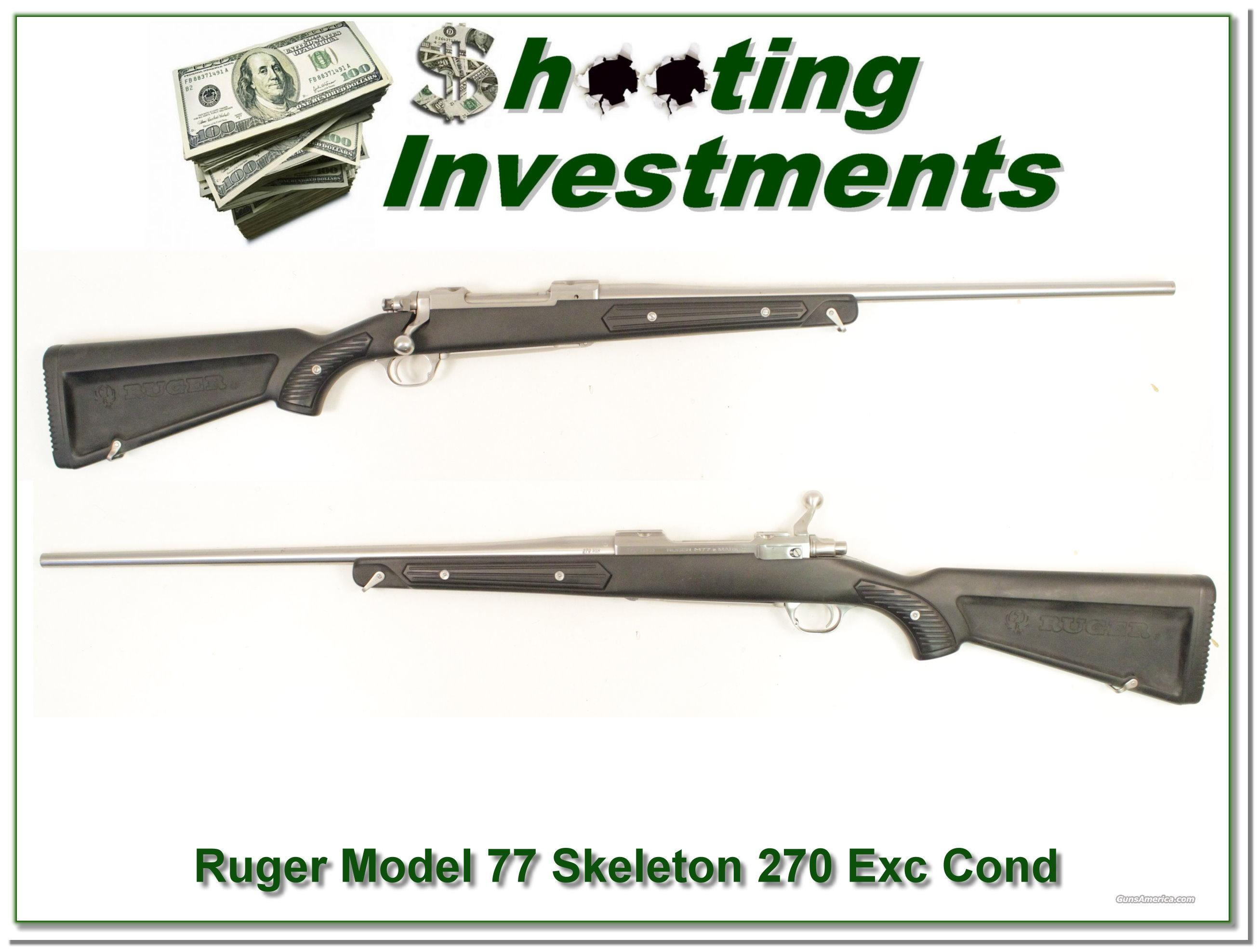 "Ruger Mark II Stainless ""Skeleton"" 270 Win Excellent  Guns > Rifles > Ruger Rifles > #1 Type"