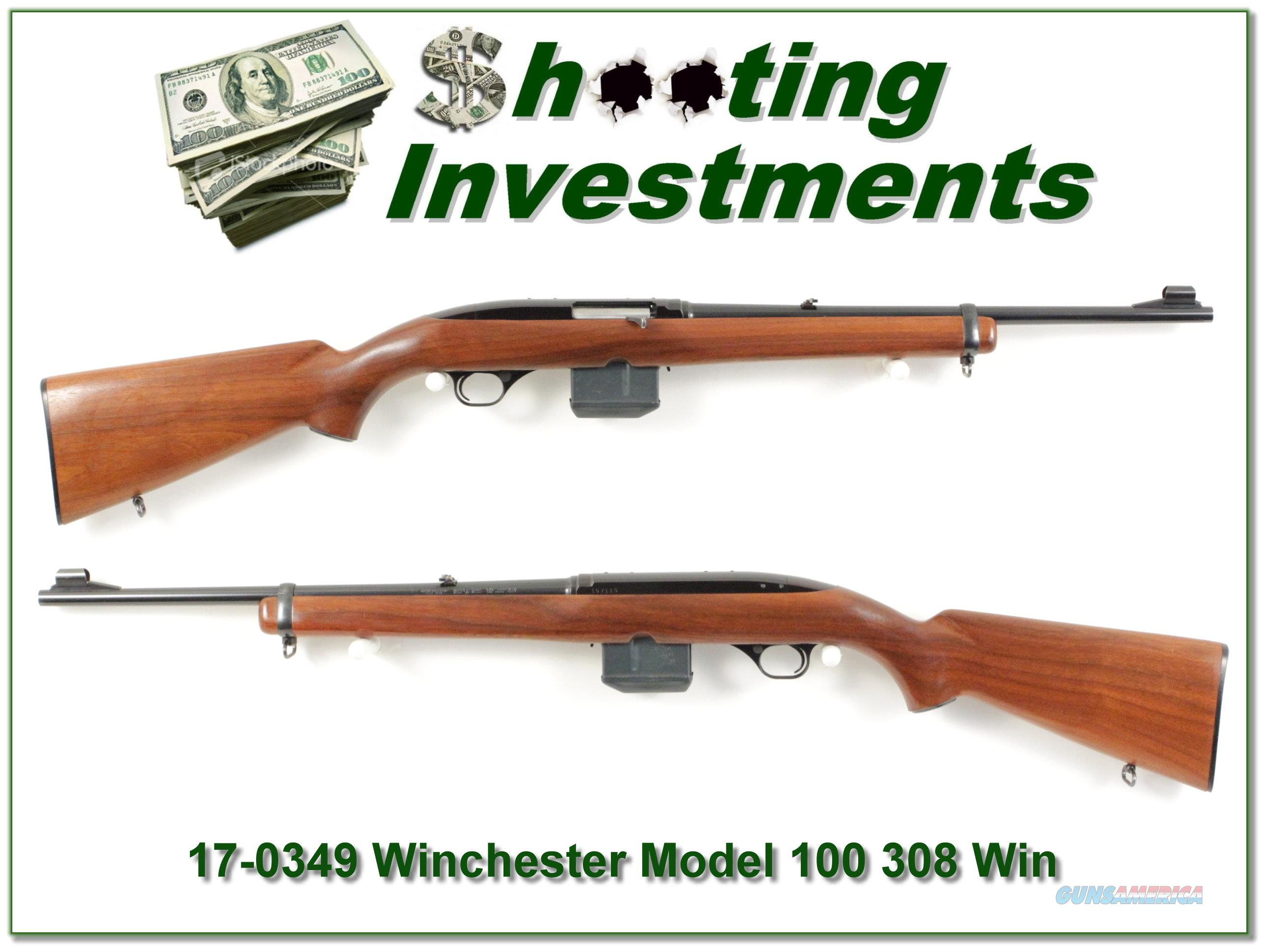 Winchester Model 100 CARBINE 308 2 Magazines!  Guns > Rifles > Winchester Rifles - Modern Bolt/Auto/Single > Autoloaders