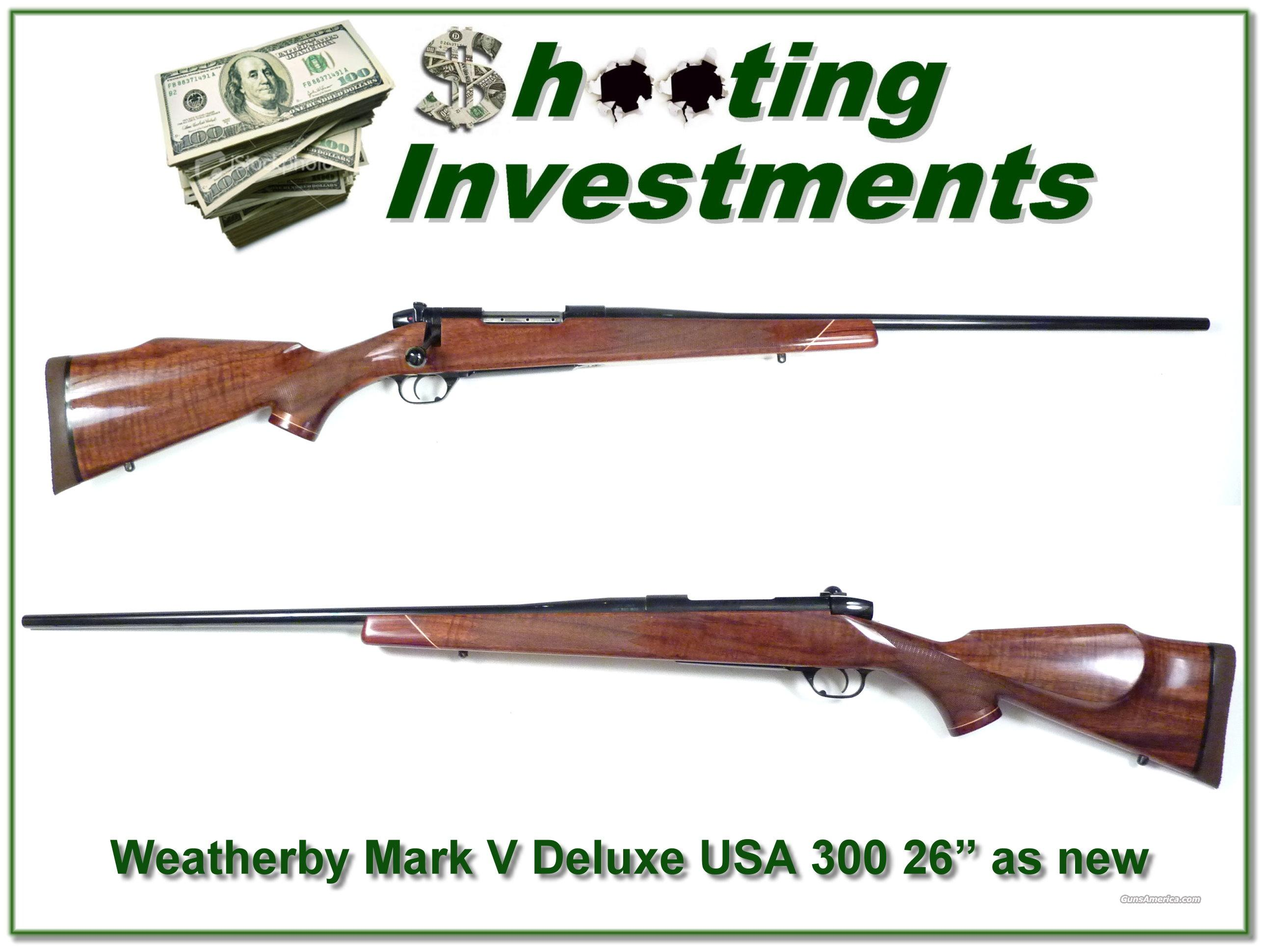 "Weatherby Mark V Deluxe USA 300 26"" as new  Guns > Rifles > Weatherby Rifles > Sporting"