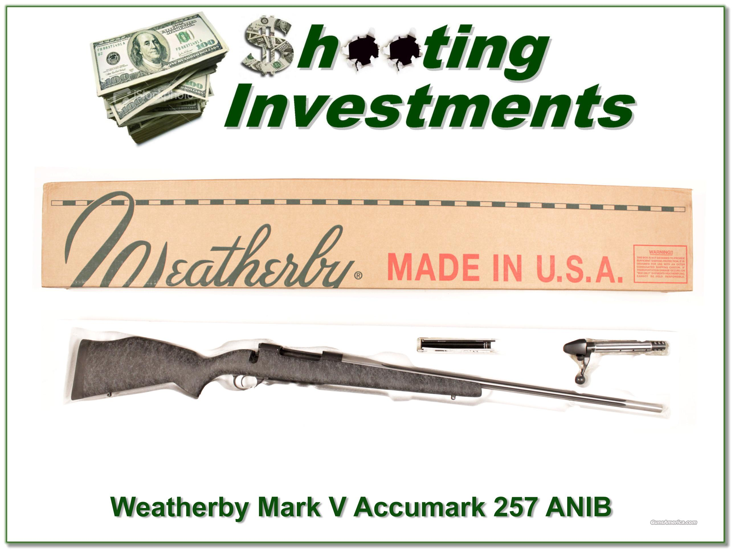 Weatherby Accumark 257 Wthy Mag looks new in box  Guns > Rifles > Weatherby Rifles > Sporting