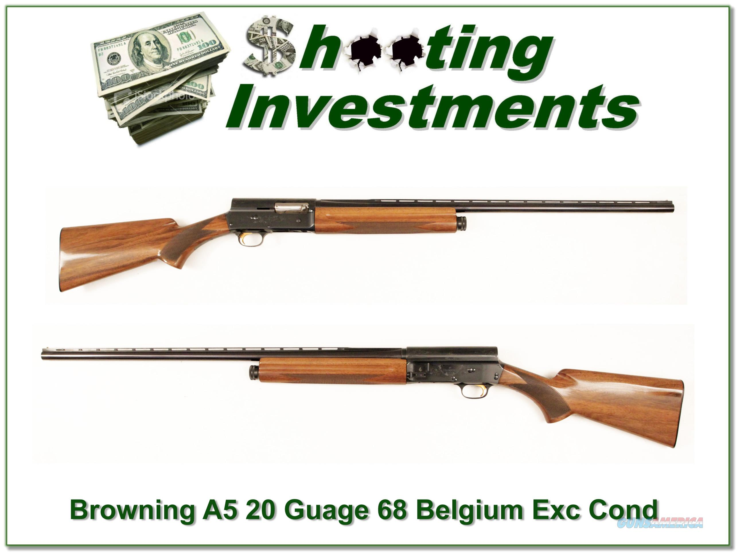Browning A5 Twenty Gauge 68 Belgium Nice Wood VR!  Guns > Shotguns > Browning Shotguns > Autoloaders > Hunting