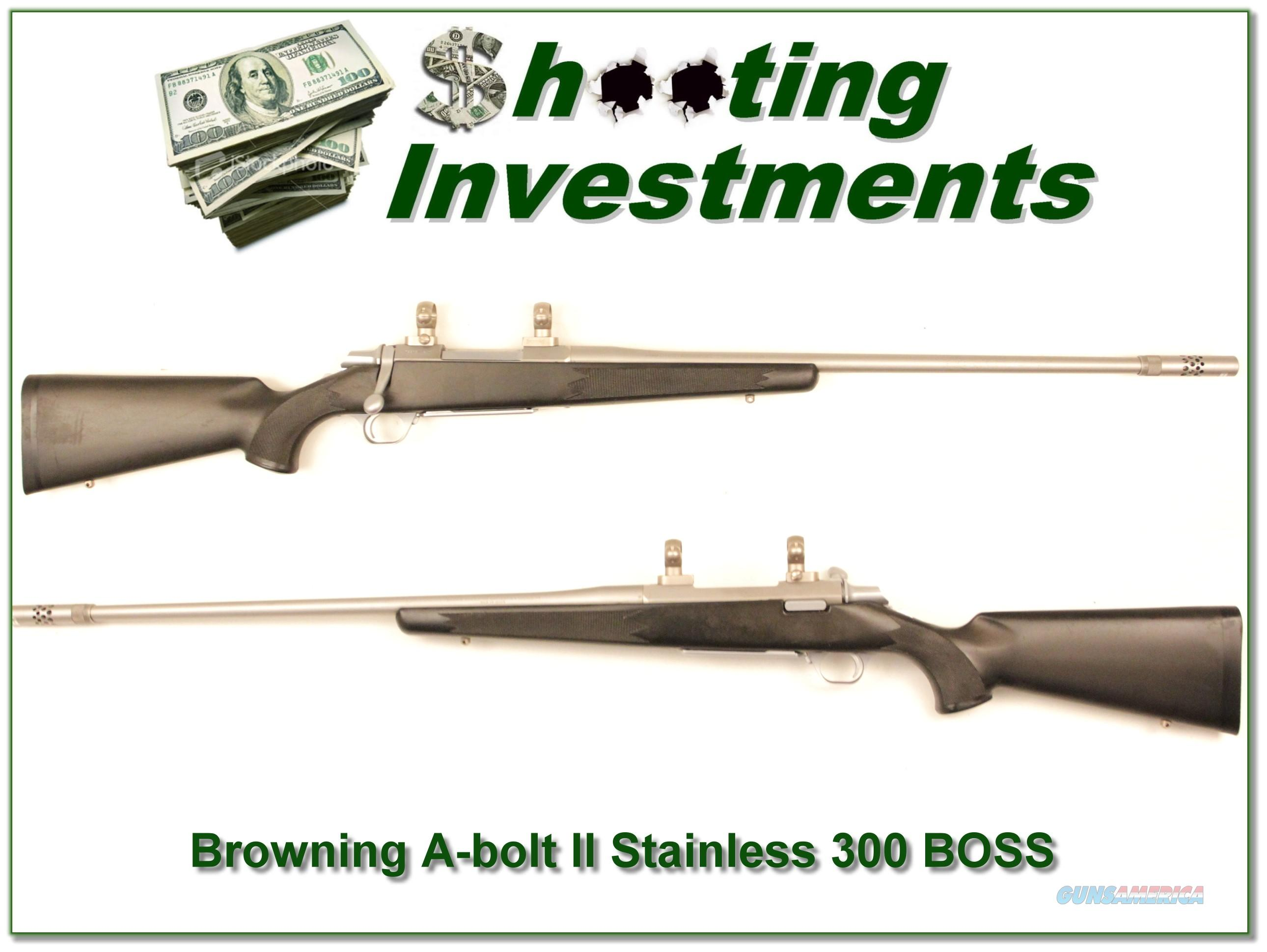 Browning A-bolt II Stainless Stalker 300 Win BOSS  Guns > Rifles > Browning Rifles > Bolt Action > Hunting > Stainless