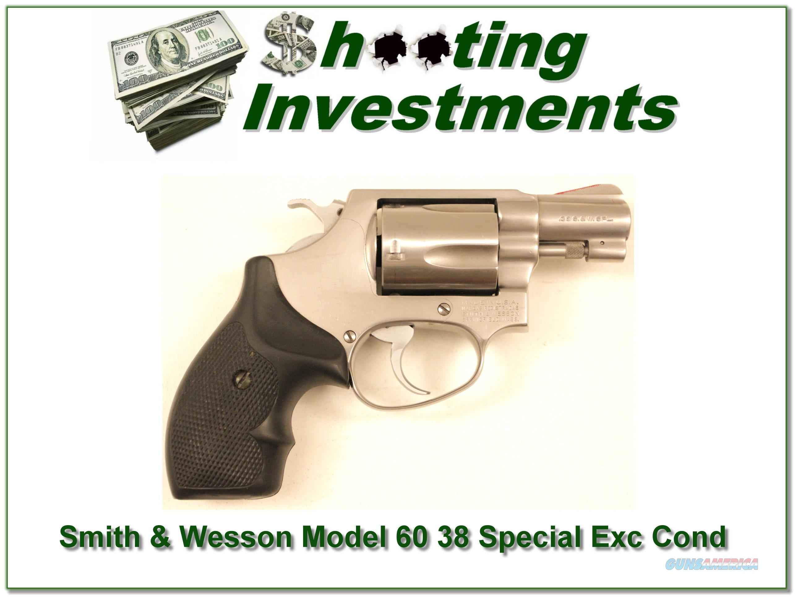 Smith & Wesson Model 60 (no Dash) 38 Special 2in Stainless  Guns > Pistols > Smith & Wesson Revolvers > Pocket Pistols