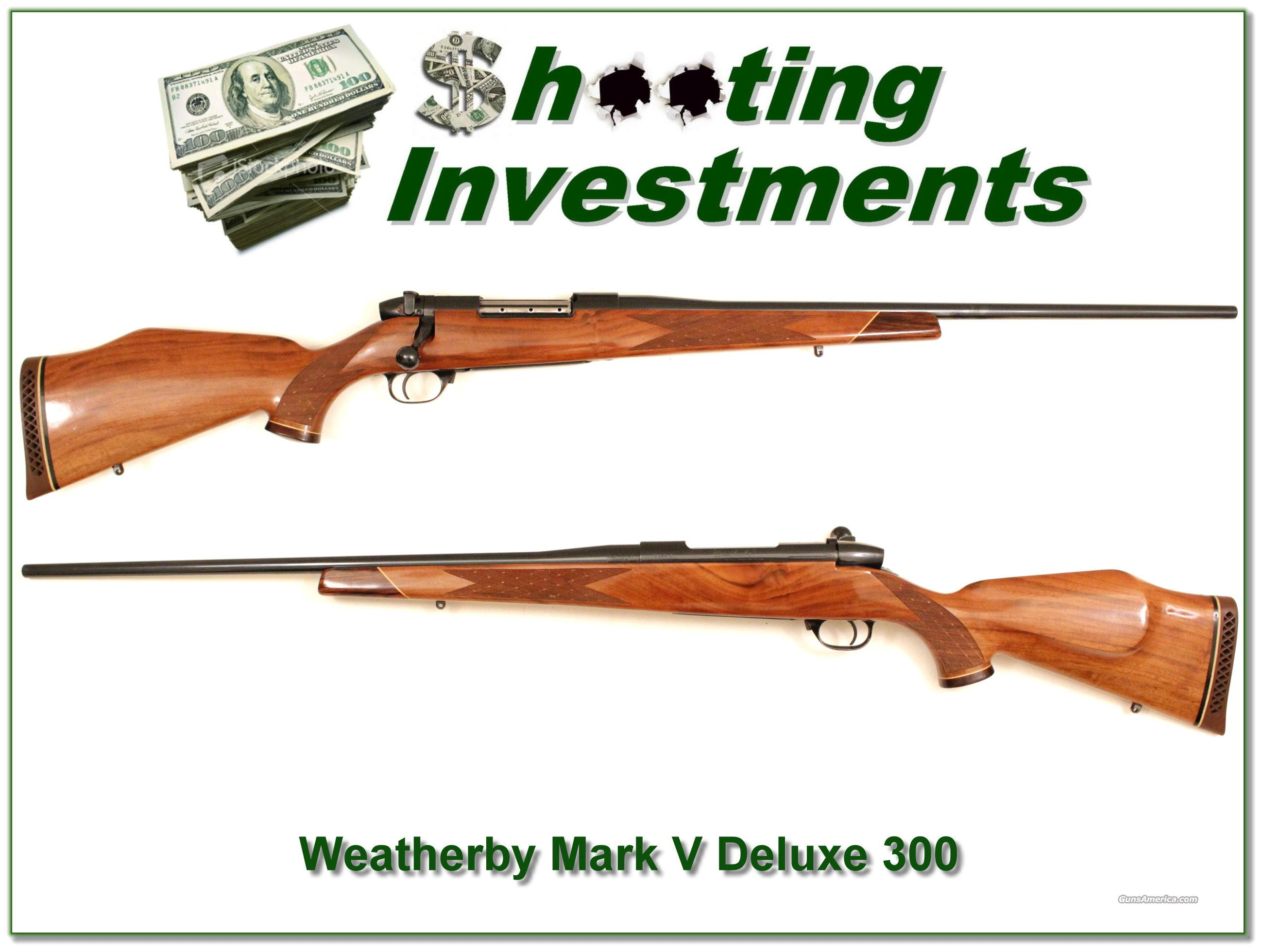 Weatherby Mark V Deluxe 300 Exc Cond!  Guns > Rifles > Weatherby Rifles > Sporting