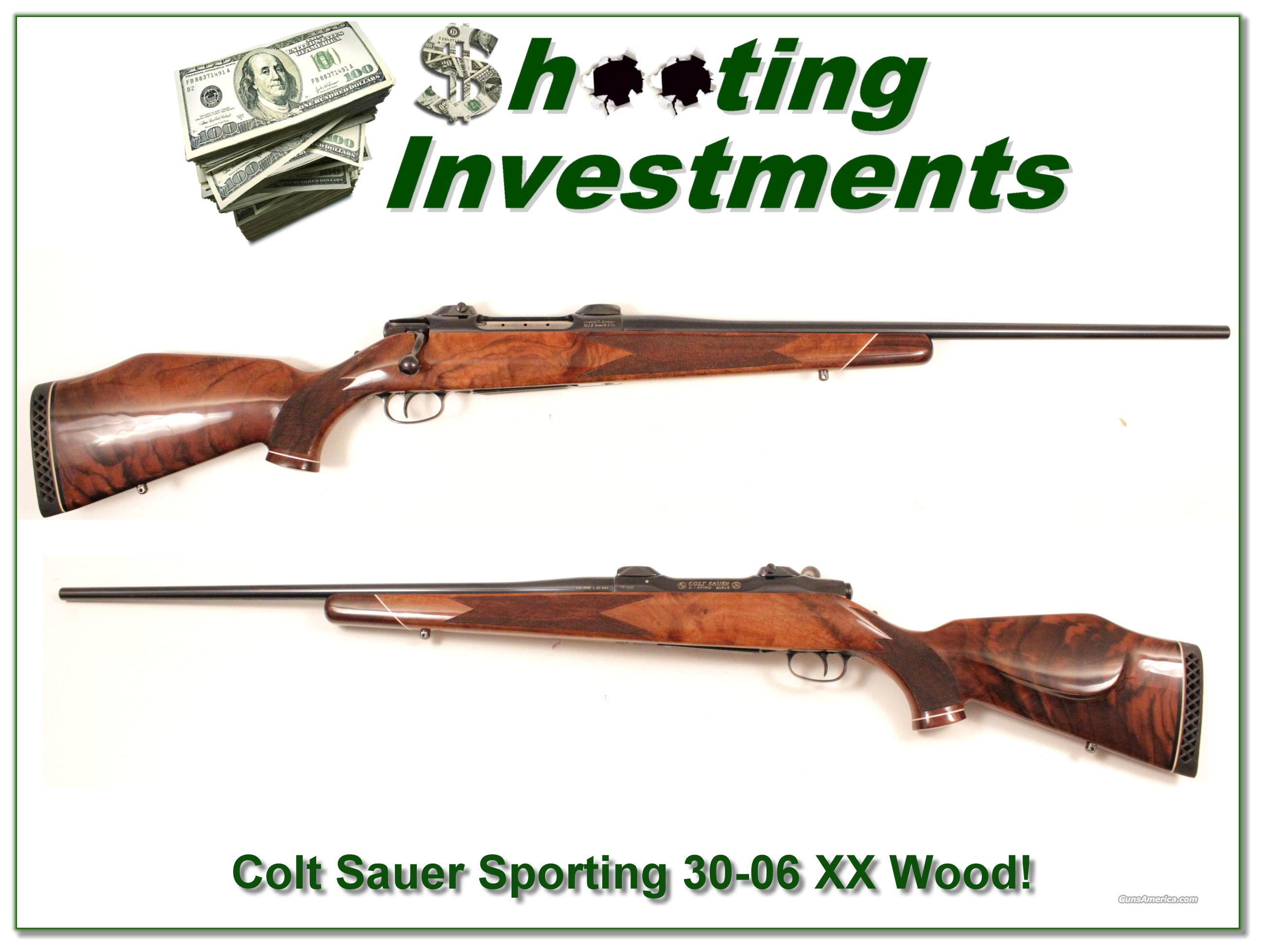 Colt Sauer Deluxe 30-06 West German made XX Wood  Guns > Rifles > Colt Commemorative Rifles