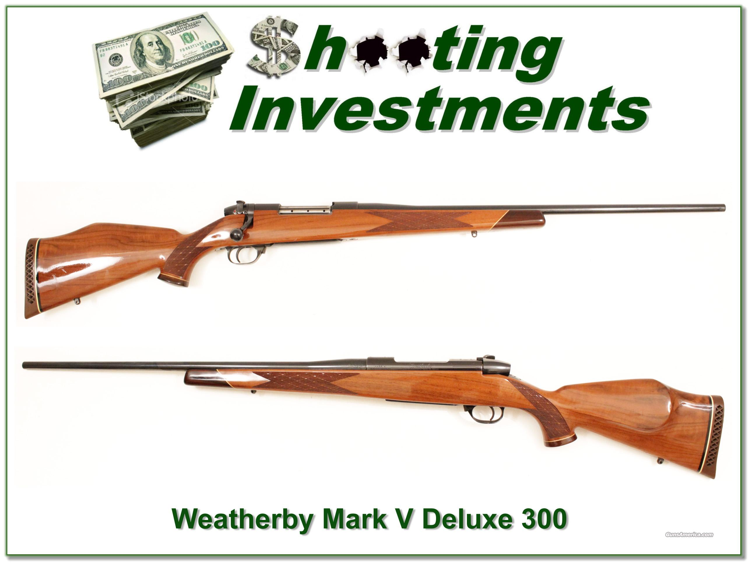 Weatherby Mark V Deluxe 300 Wthy Mag Exc Cond  Guns > Rifles > Weatherby Rifles > Sporting
