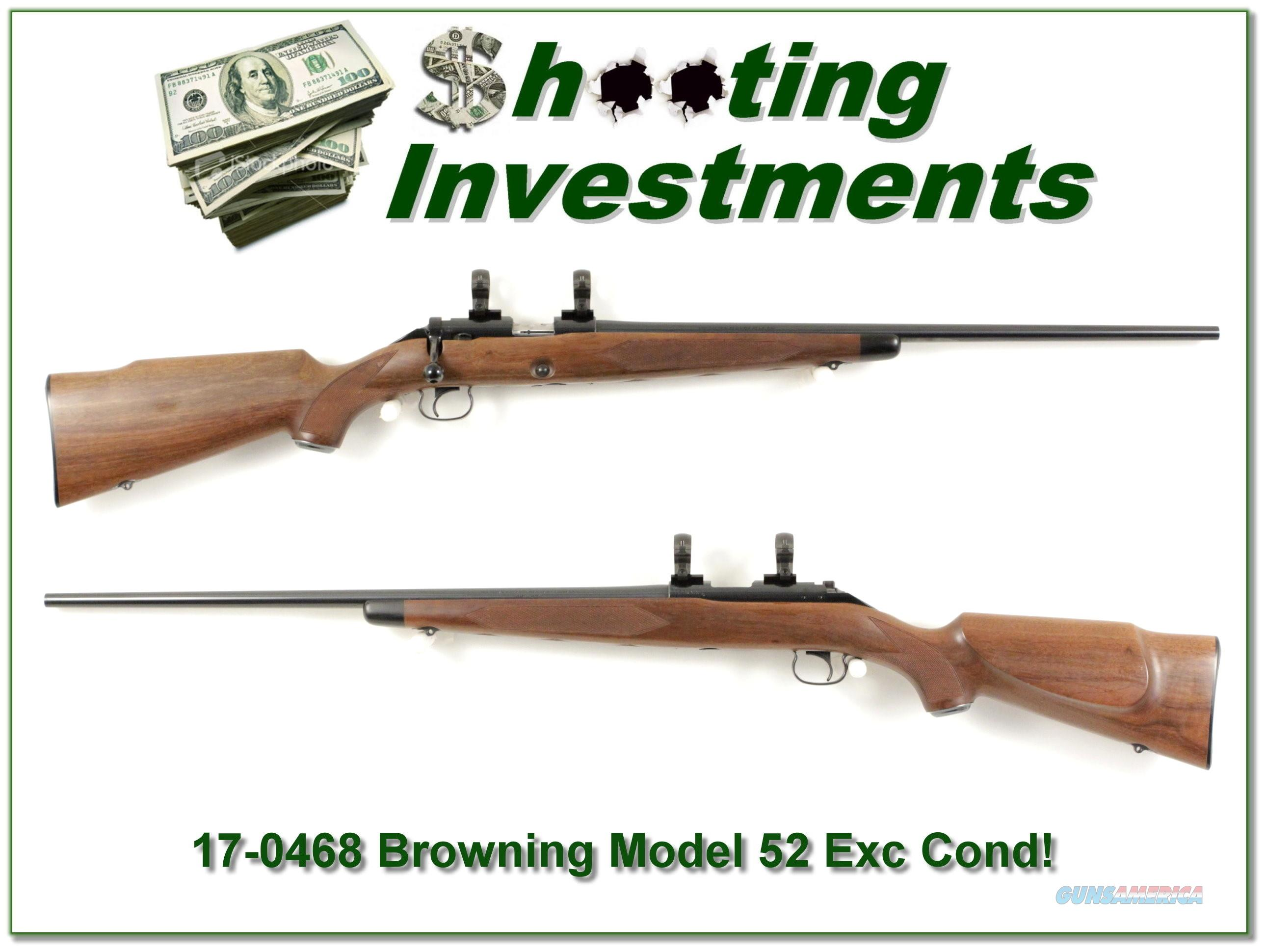 Browning Model 52 22 LR Rimfire near new!  Guns > Rifles > Browning Rifles > Bolt Action > Hunting > Blue