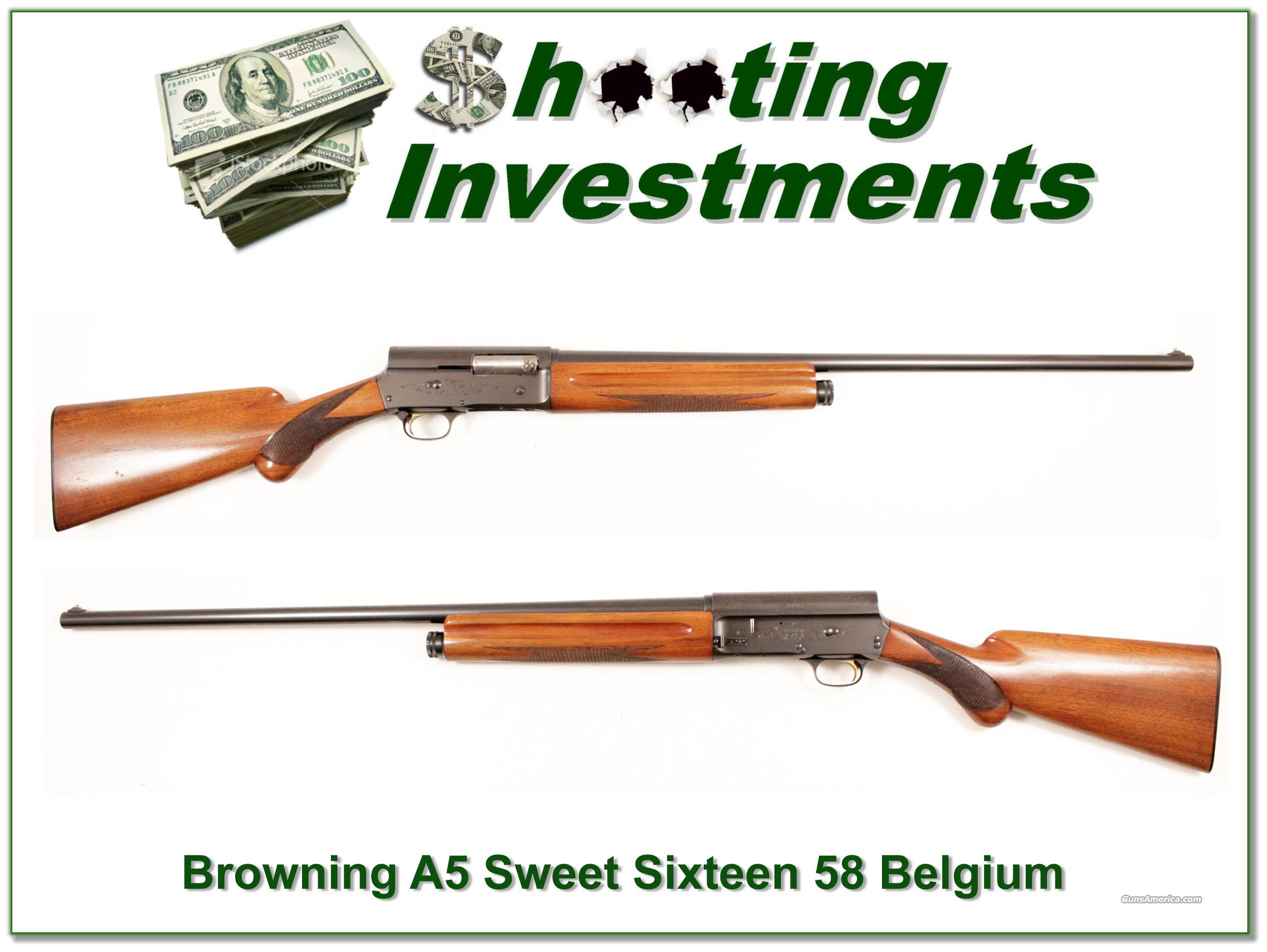 Browning A5 58 Belgium Sweet Sixteen 28in Mod  Guns > Shotguns > Browning Shotguns > Autoloaders > Hunting