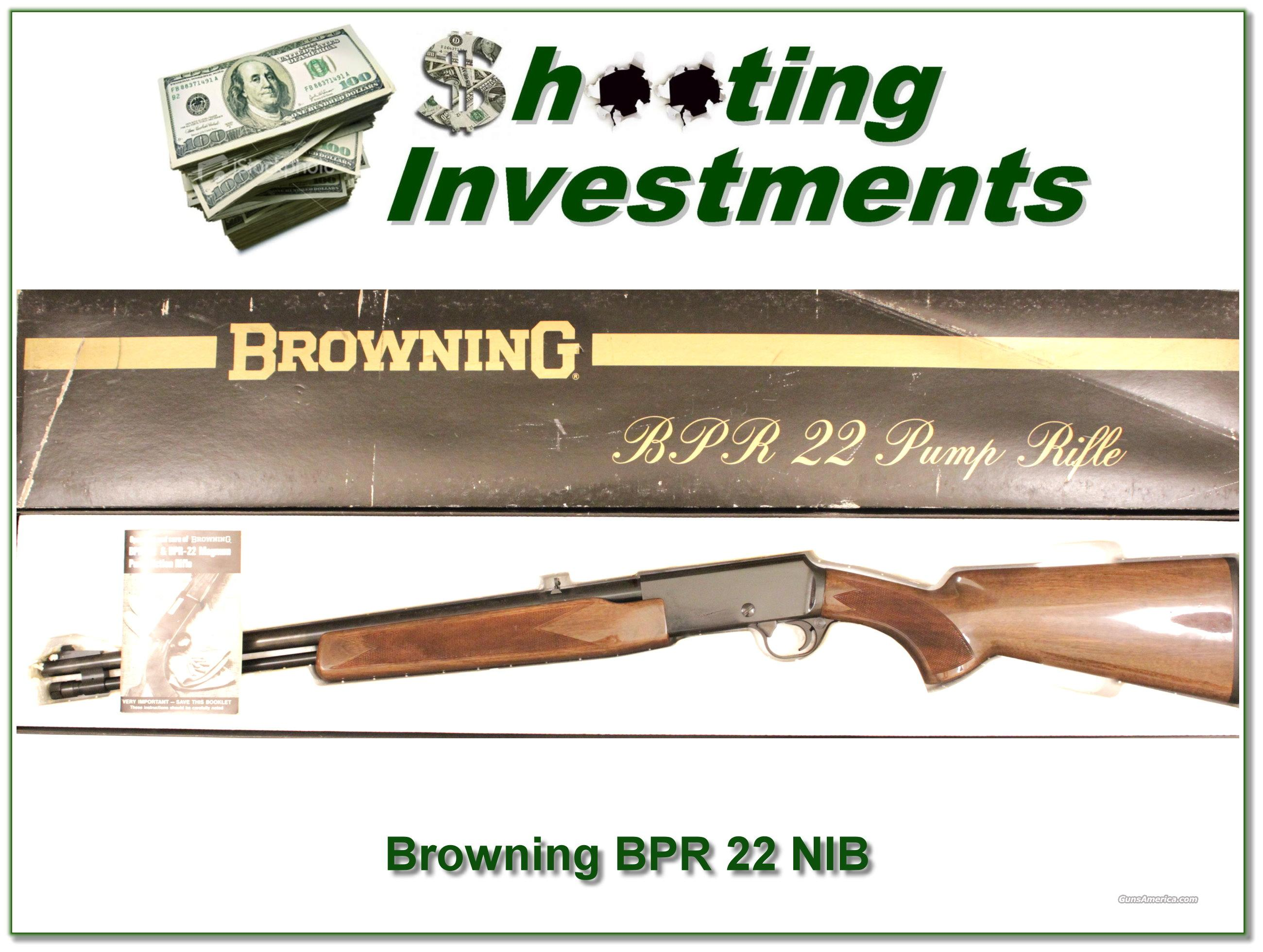 Browning BPR 22 NIB  Guns > Rifles > Browning Rifles > Pump Action