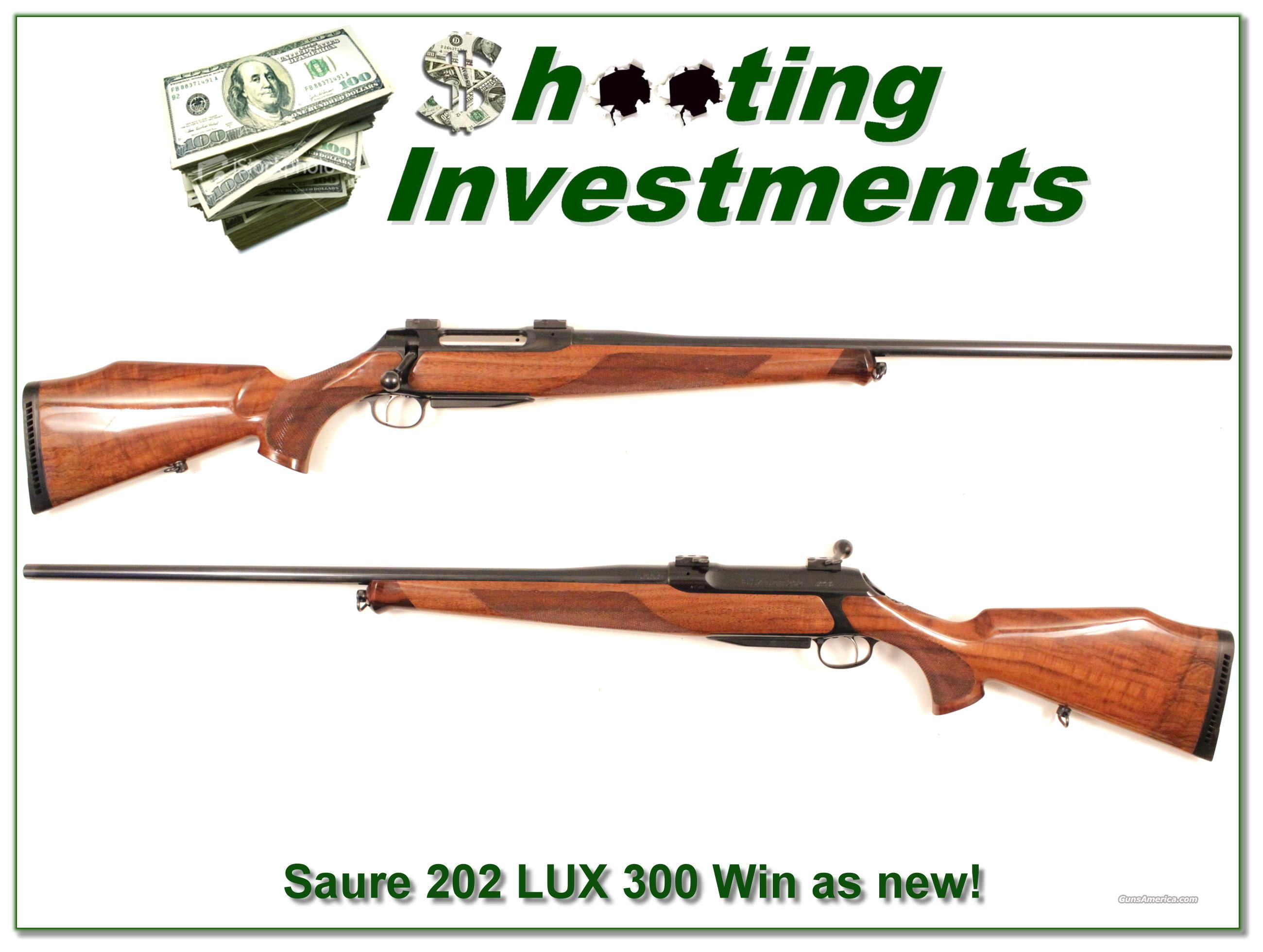 Sauer 202 Lux Deluxe 300 Win Mag as new!  Guns > Rifles > Sig - Sauer/Sigarms Rifles