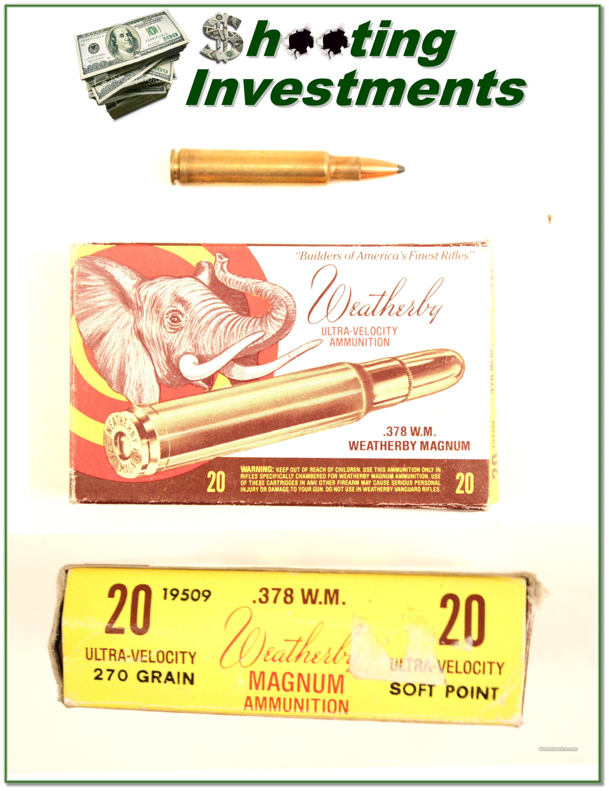 Vintage Weatherby 378 Ammo 270 Grian Soft Point  Non-Guns > Ammunition