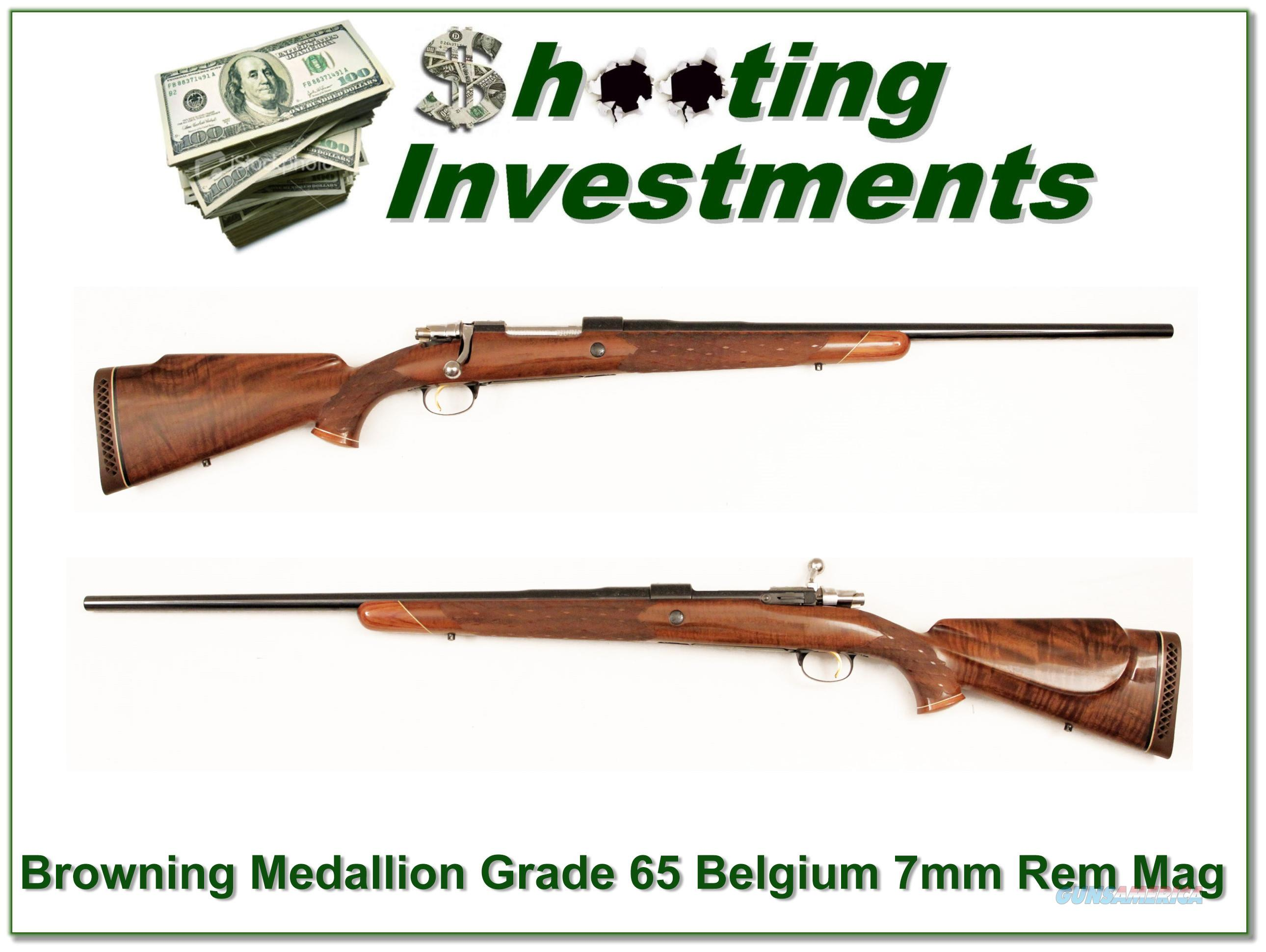 Browning Medallion Grade 65 Belgium 7mm Rem Mag  Guns > Rifles > Browning Rifles > Bolt Action > Hunting > Blue