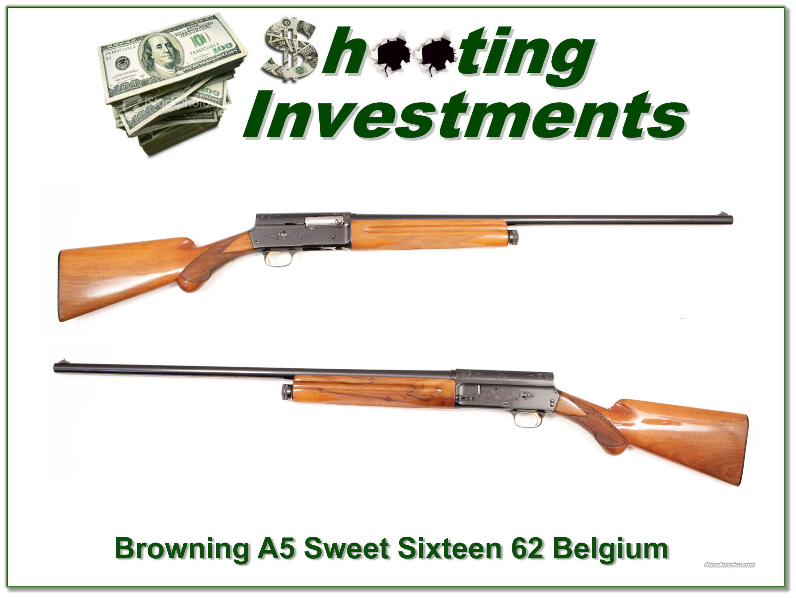 Browning A5 Sweet Sixteen 62 Belgium 26in IC   Guns > Shotguns > Browning Shotguns > Autoloaders > Hunting