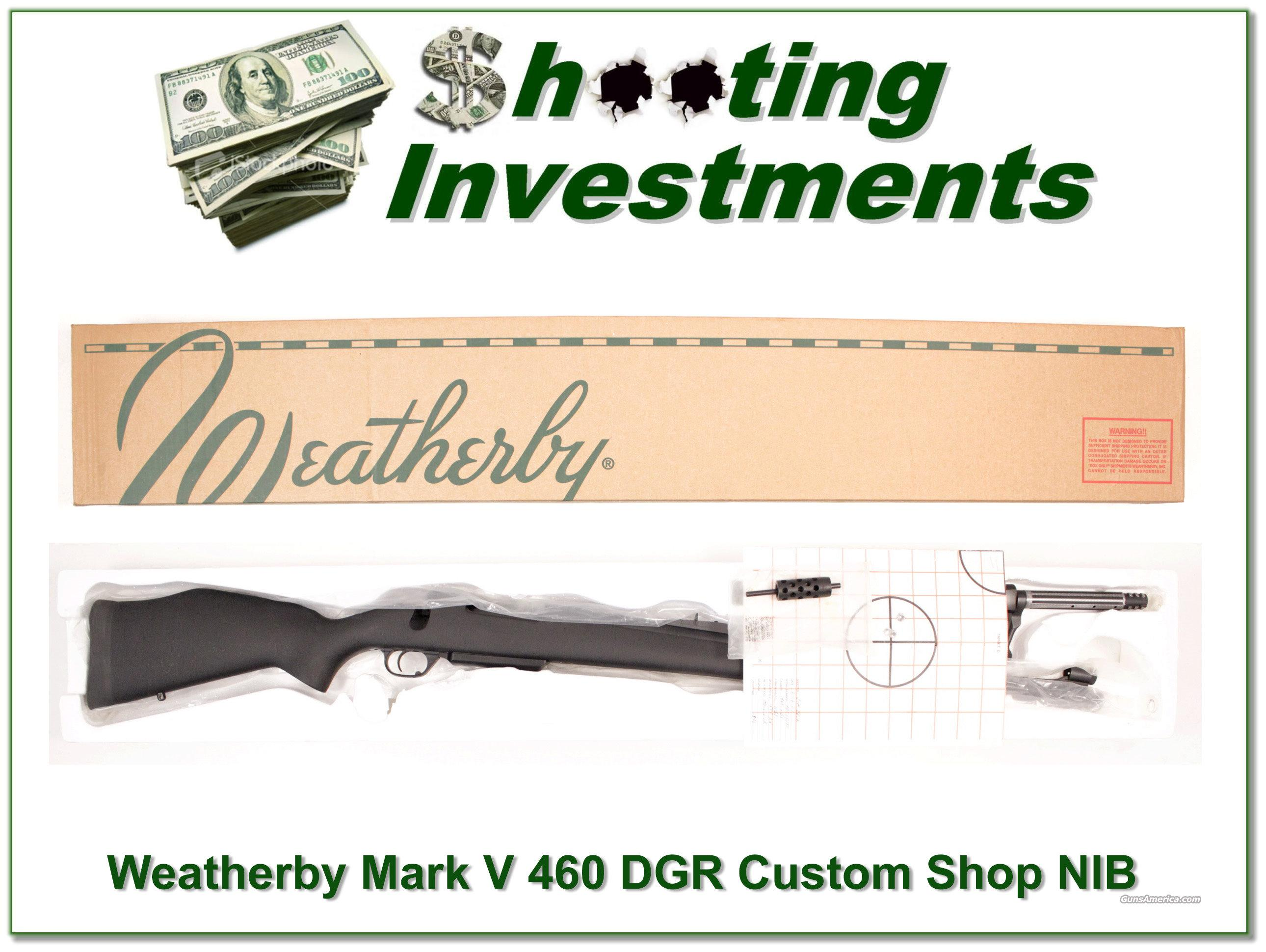 Weatherby Mark V Dangerous Game 460 ANIB  Guns > Rifles > Weatherby Rifles > Sporting