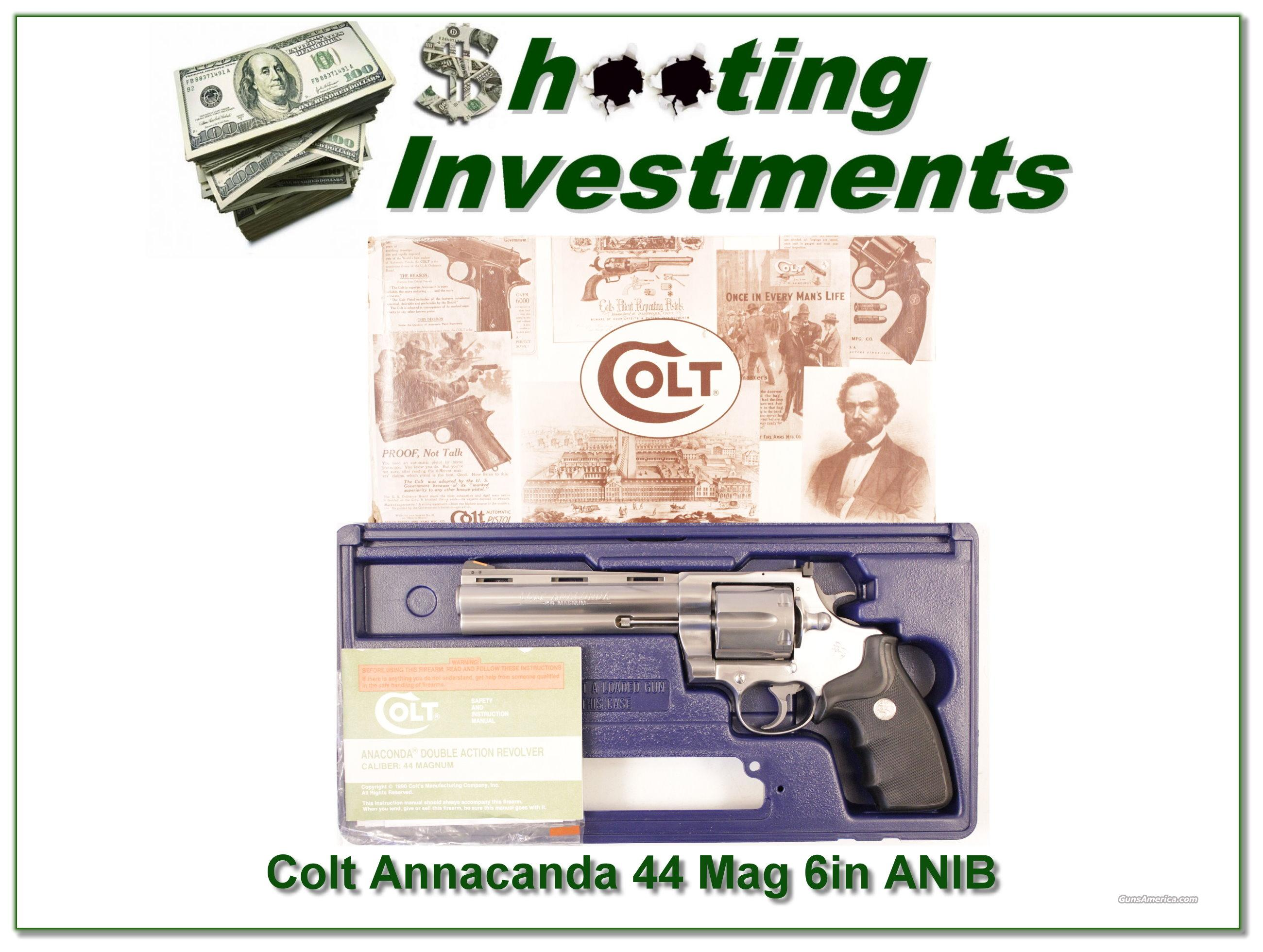 Colt Anaconda 44 Mag Stainless 6in ANIB  Guns > Pistols > Colt Double Action Revolvers- Modern