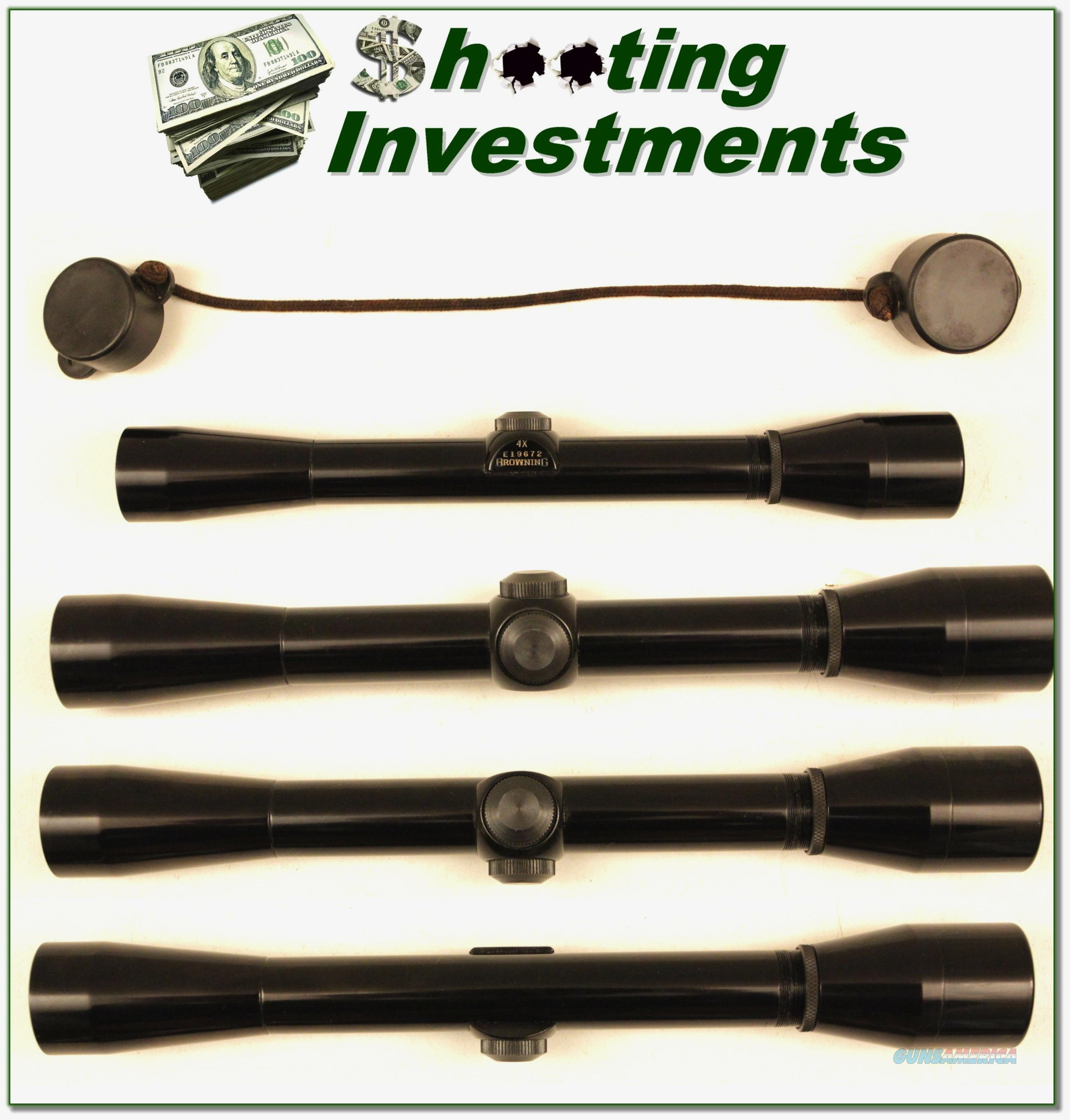 "Browning rimfire ¾"" 4X Rifle Scope MINT Cond Covers  Non-Guns > Scopes/Mounts/Rings & Optics > Rifle Scopes > Fixed Focal Length"