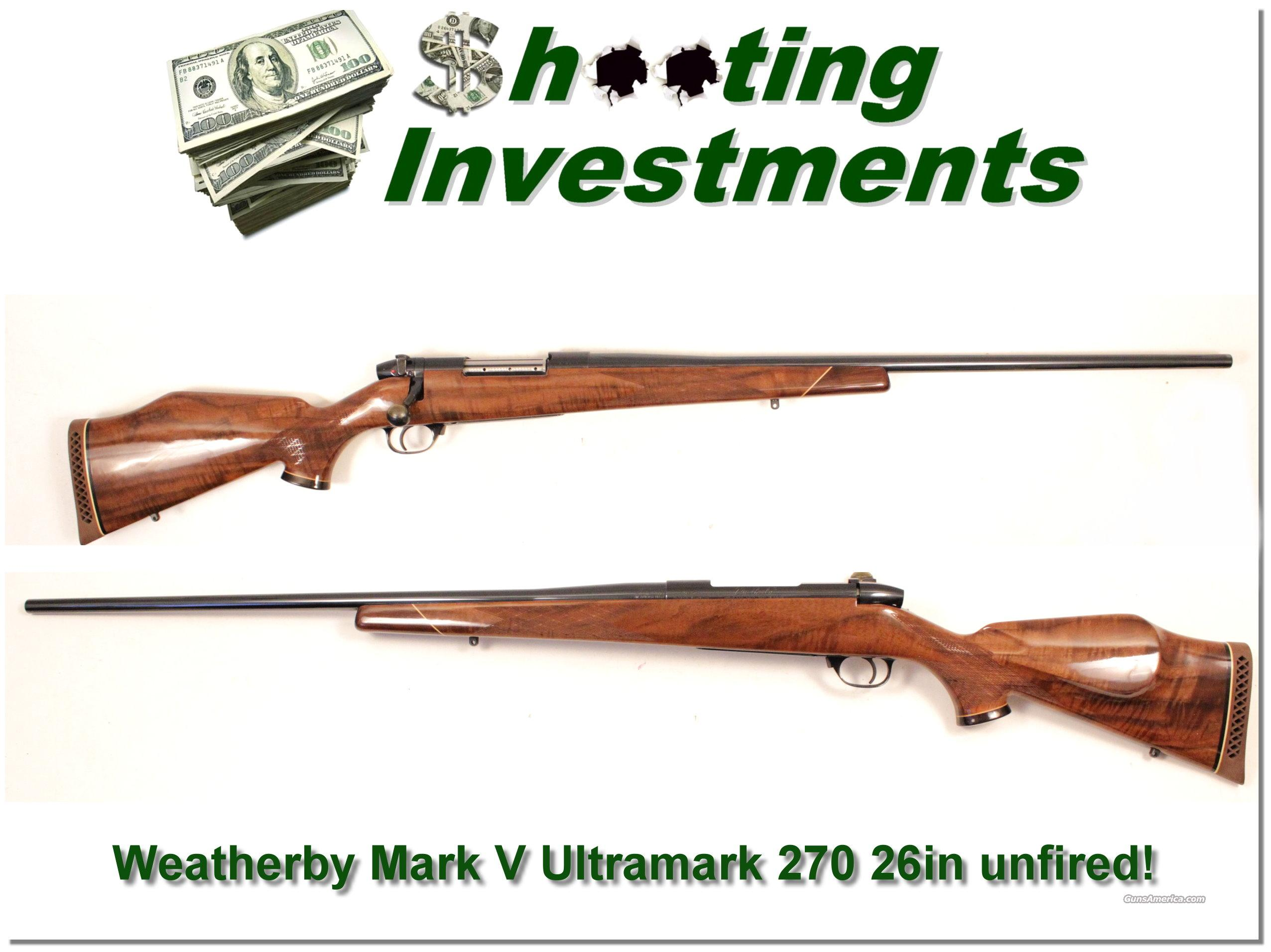Weatherby Mark V Ultramark new and perfect with XX Wood!  Guns > Rifles > Weatherby Rifles > Sporting