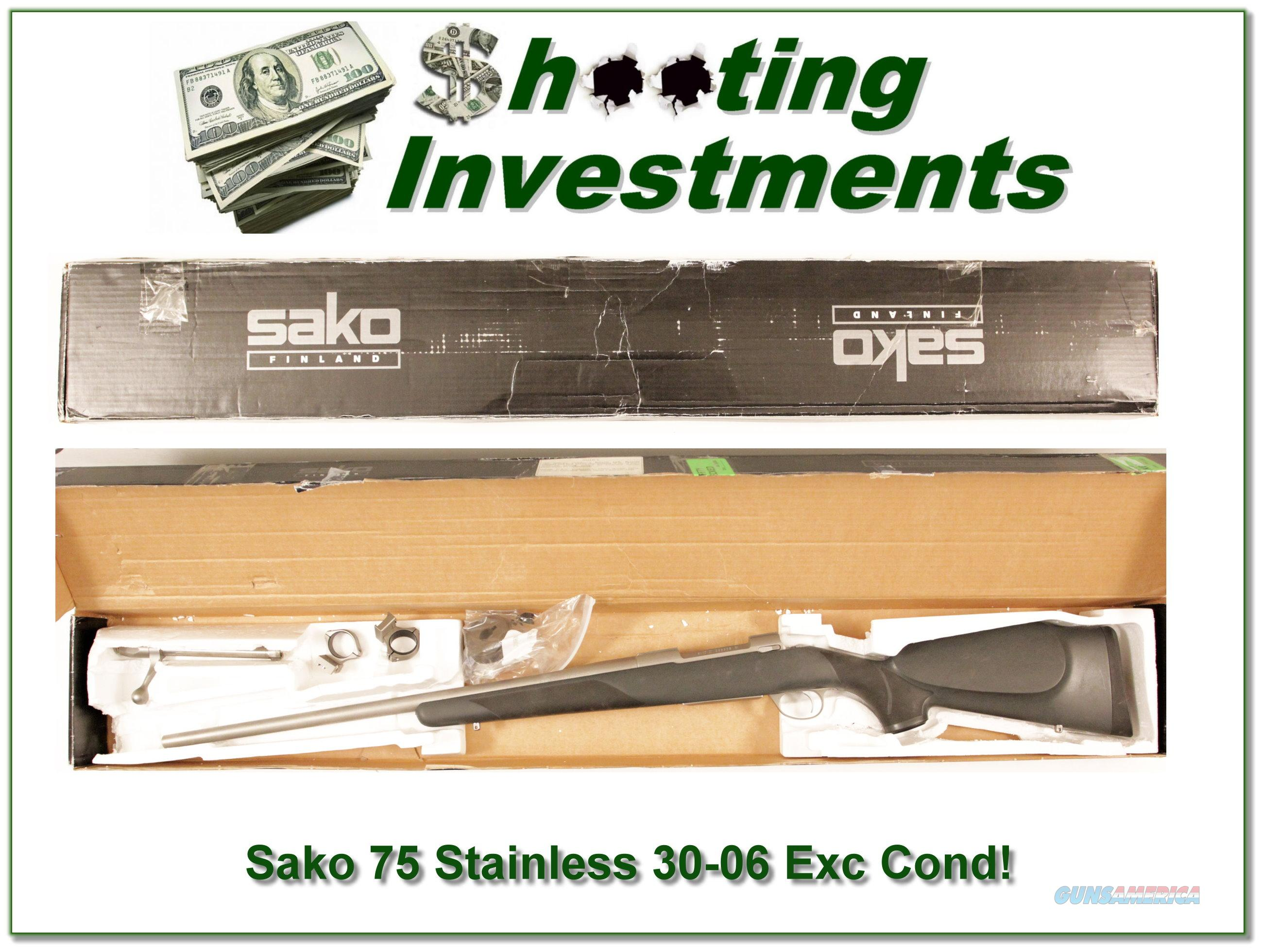 Sako 75 Stainless 30-06 Exc Cond  Guns > Rifles > Sako Rifles > M75 Series