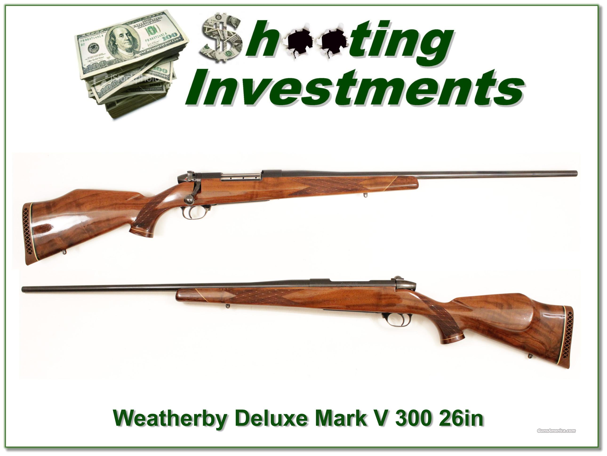 Weatherby Mark V Deluxe 300 26in Exc Cond  Guns > Rifles > Weatherby Rifles > Sporting