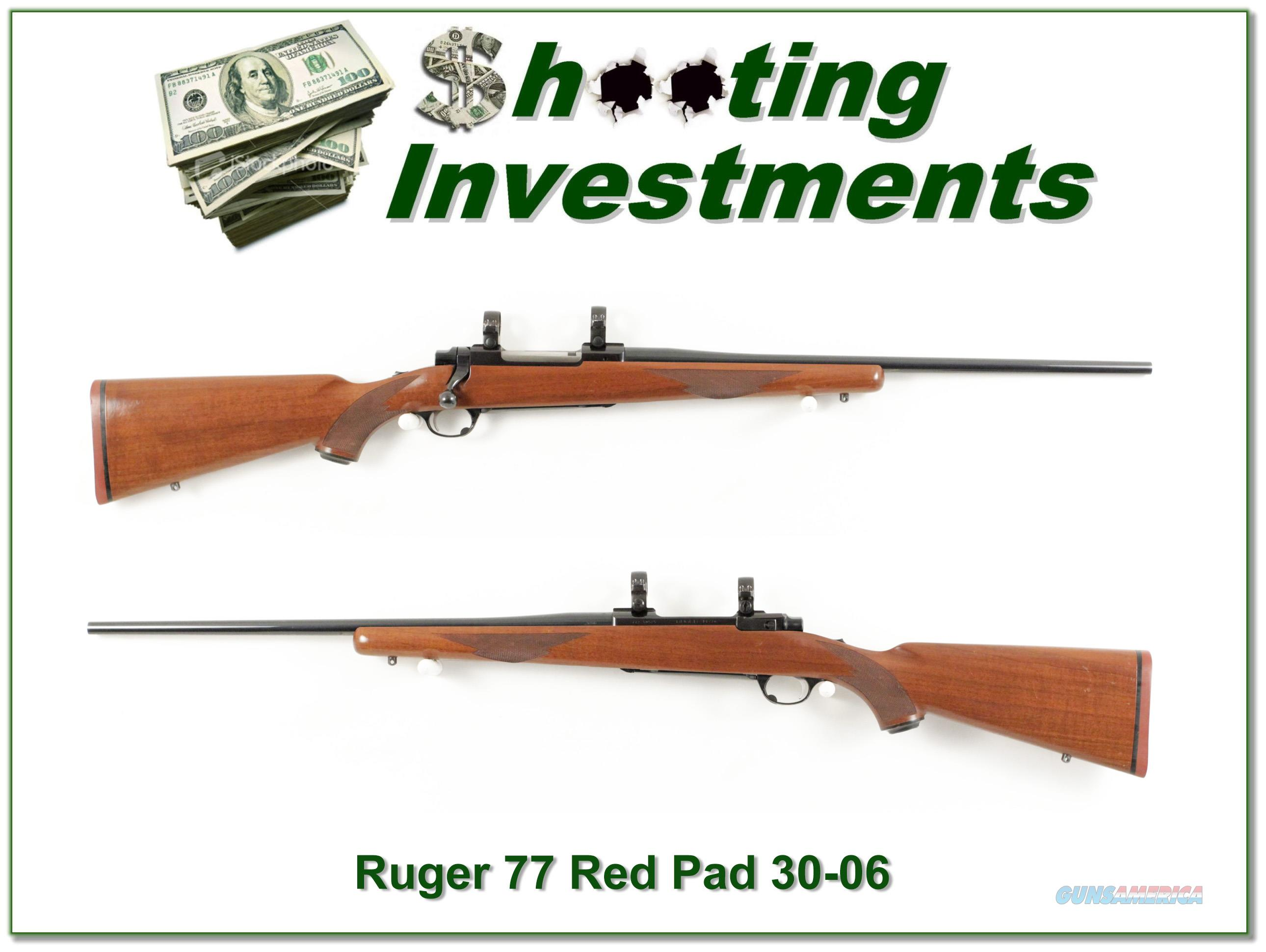 Ruger 77 Red Pad Tang Safety 30-06  Guns > Rifles > Ruger Rifles > Model 77