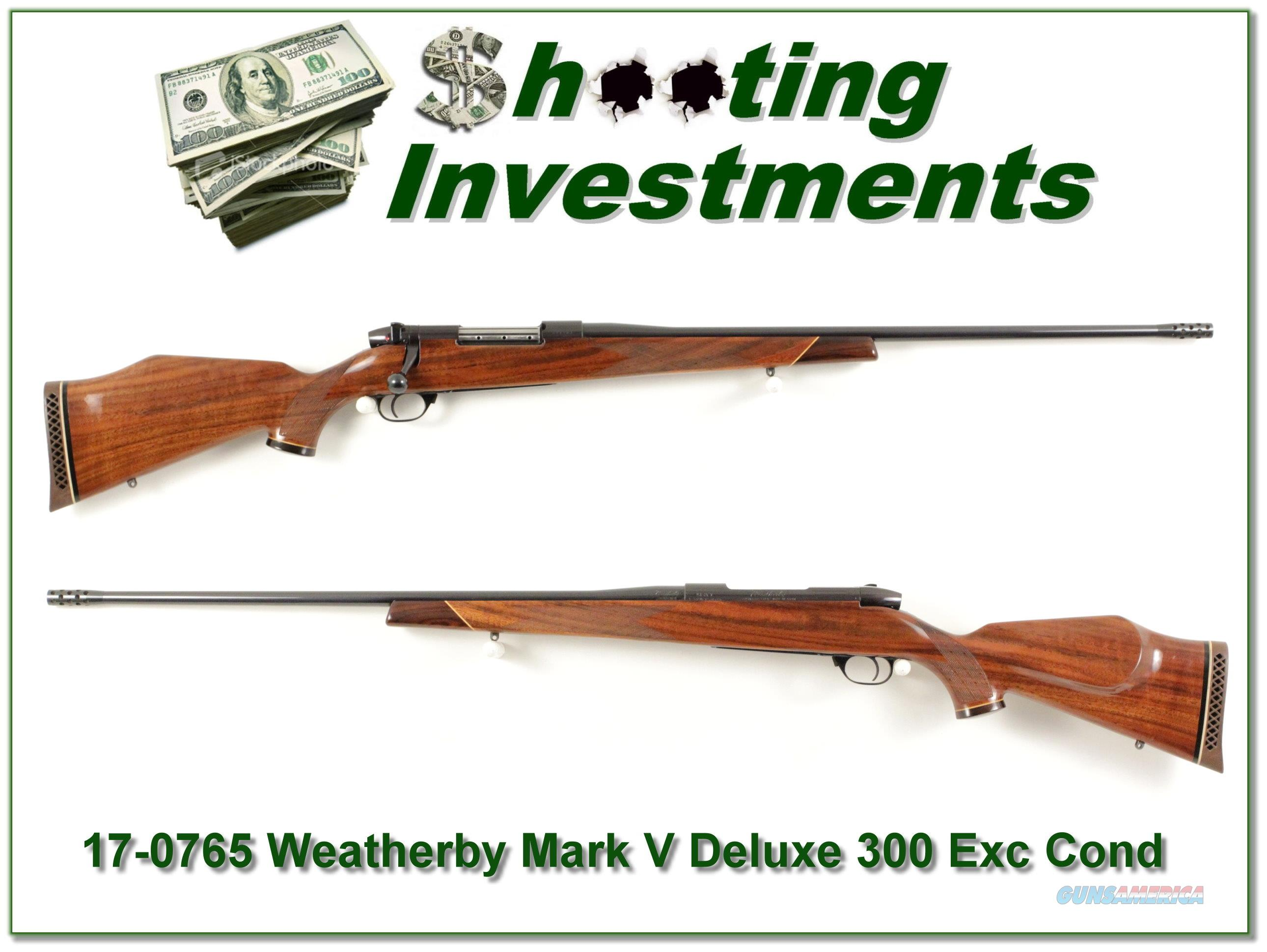 Weatherby Mark V Deluxe 300 Wthy Mag Accubreak Exc Cond!  Guns > Rifles > Weatherby Rifles > Sporting